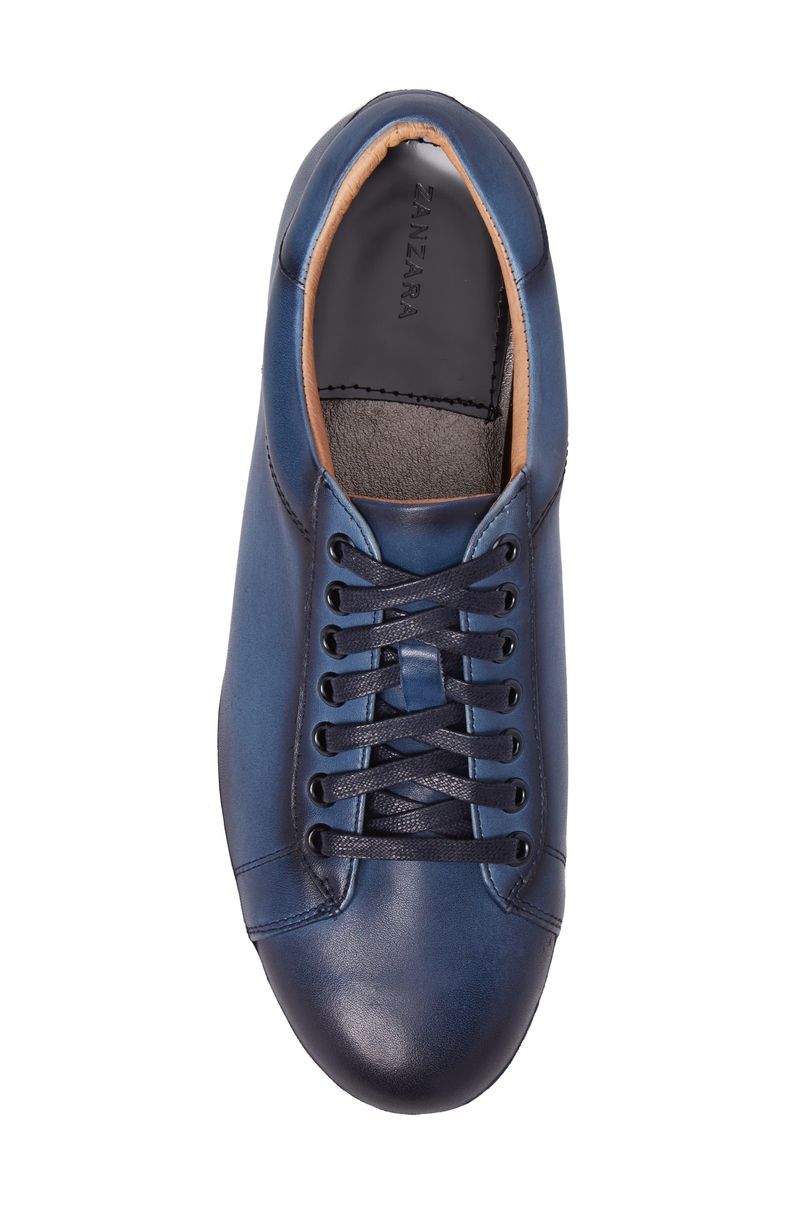 Penrose Sneaker,                             Alternate thumbnail 5, color,                             Blue Leather