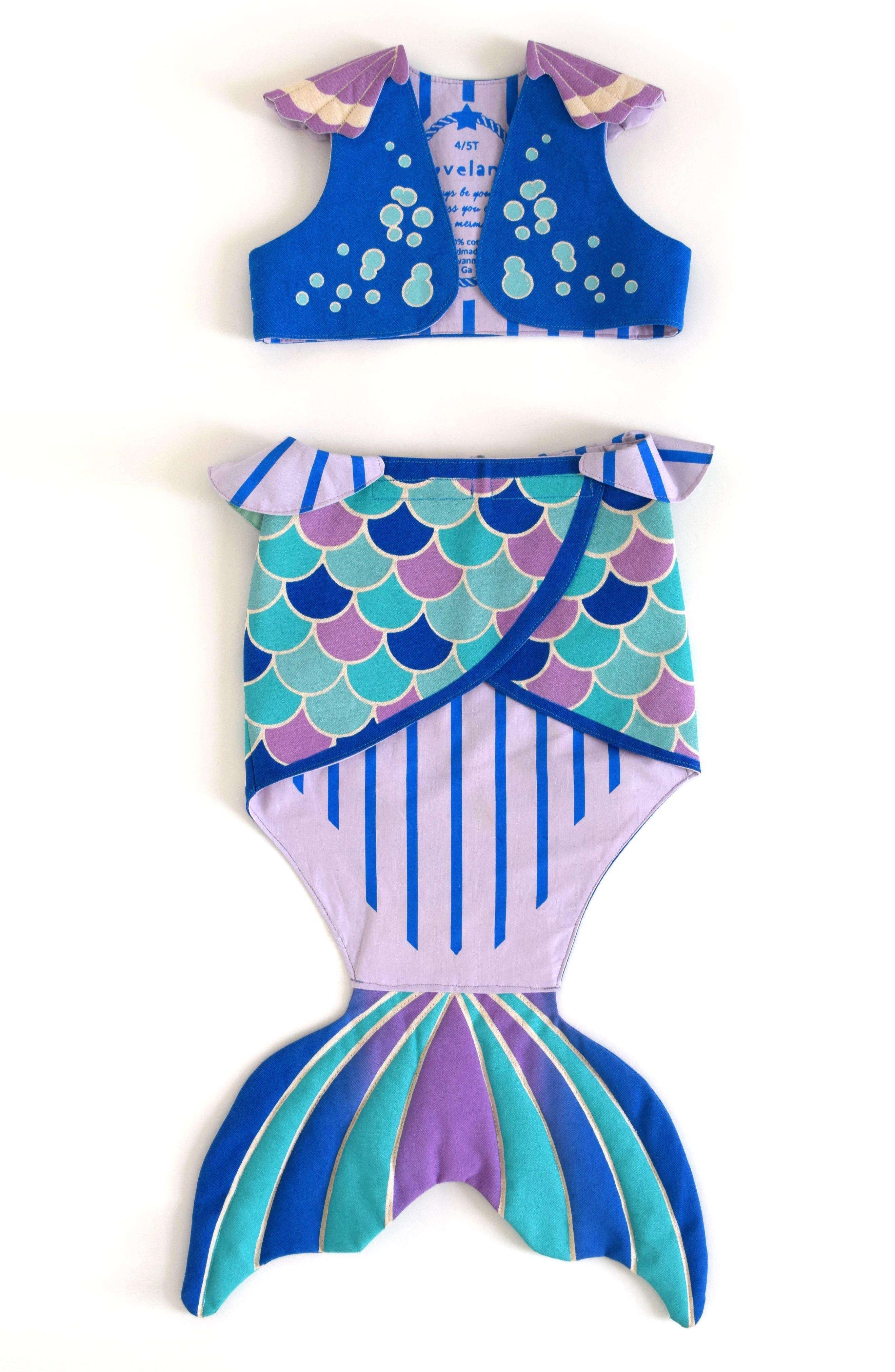Mermaid Costume Set,                         Main,                         color, Blue