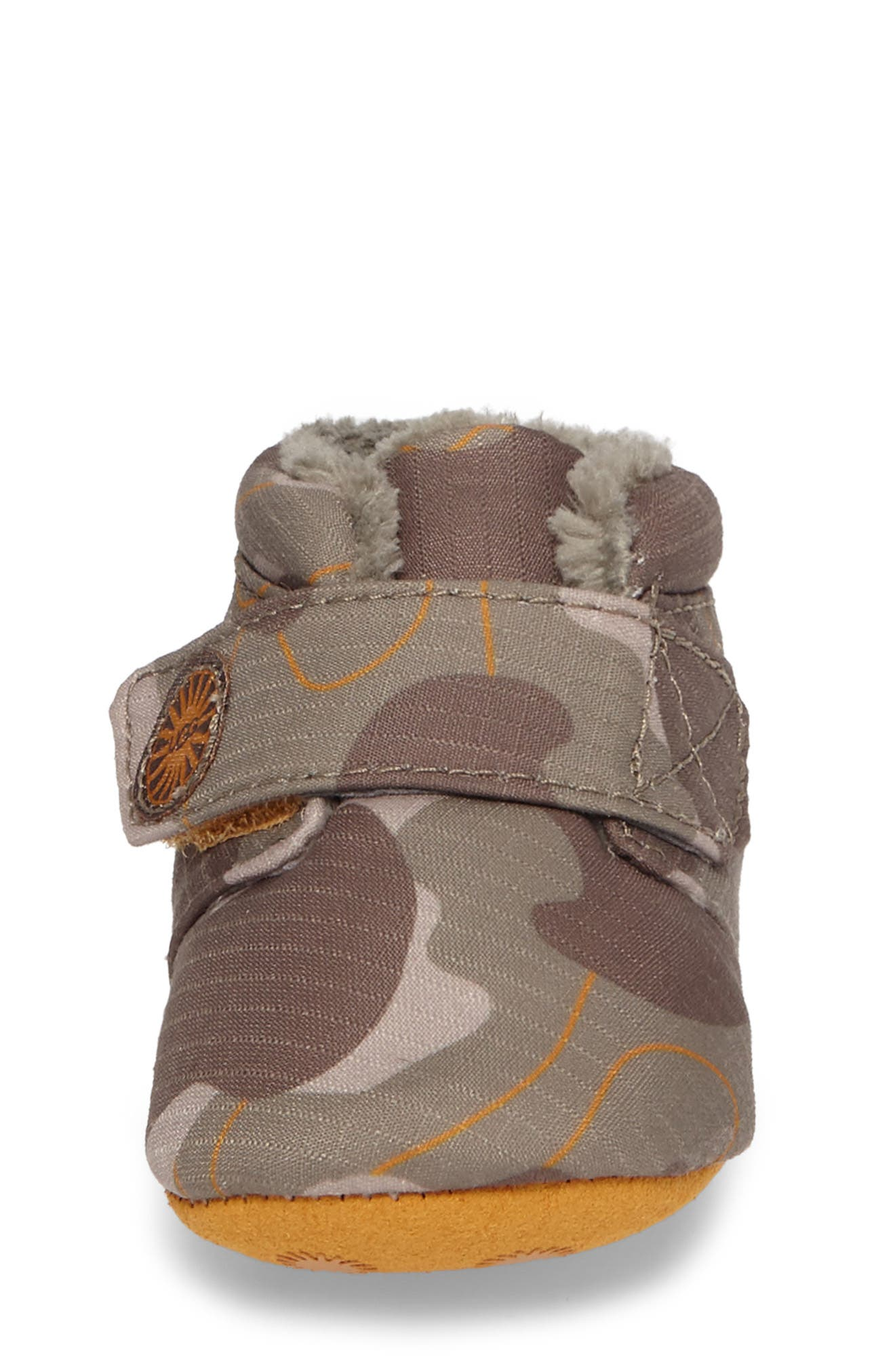 Alternate Image 4  - UGG® Bixbee Faux Fur Camo Crib Bootie (Baby & Walker)