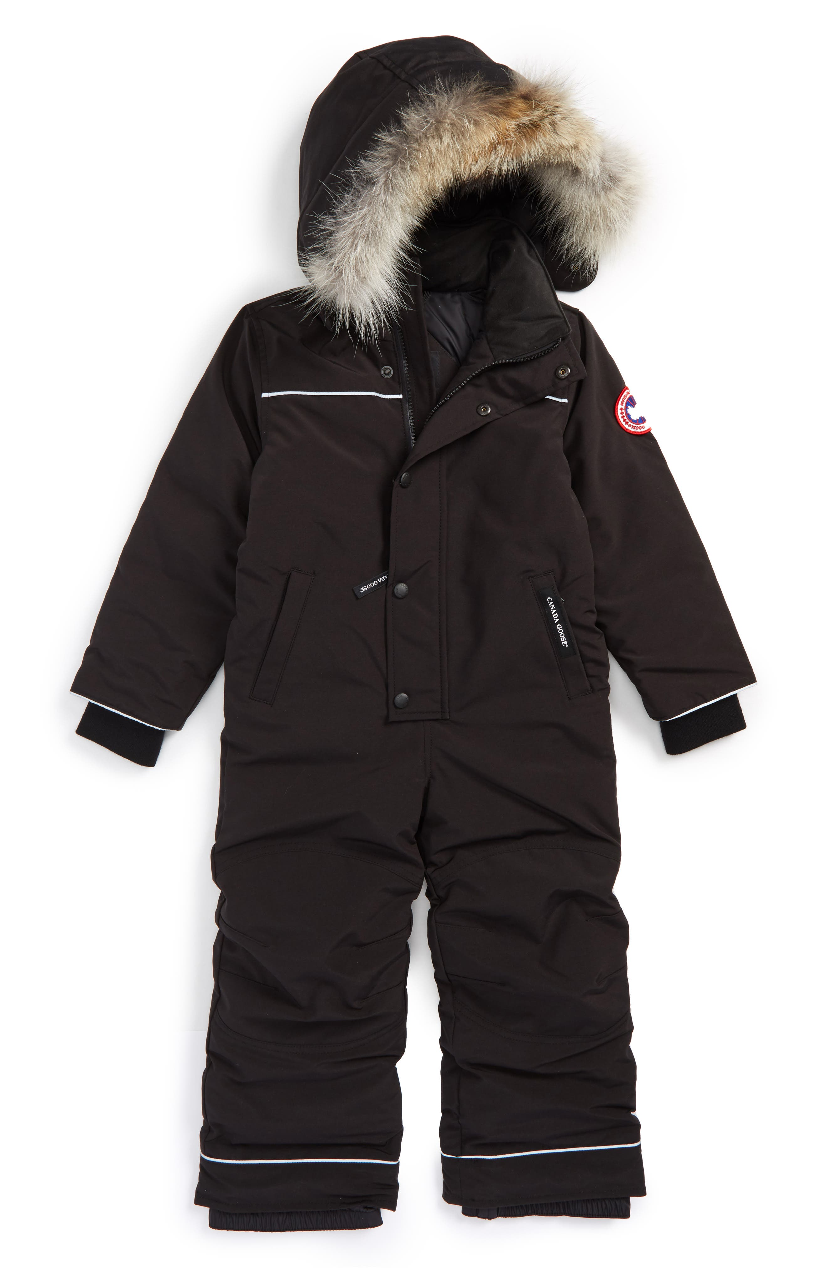 Canada Goose Baby Grizzly Snowsuit with Genuine Coyote Fur Trim (Toddler Kids & Little Kids)