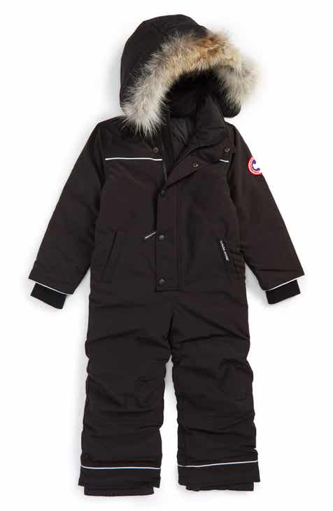 6df5e24dbb83 Canada Goose Baby Grizzly Snowsuit with Genuine Coyote Fur Trim (Toddler  Kids   Little Kids).  525.00. Product Image. BLACK  PACIFIC BLUE