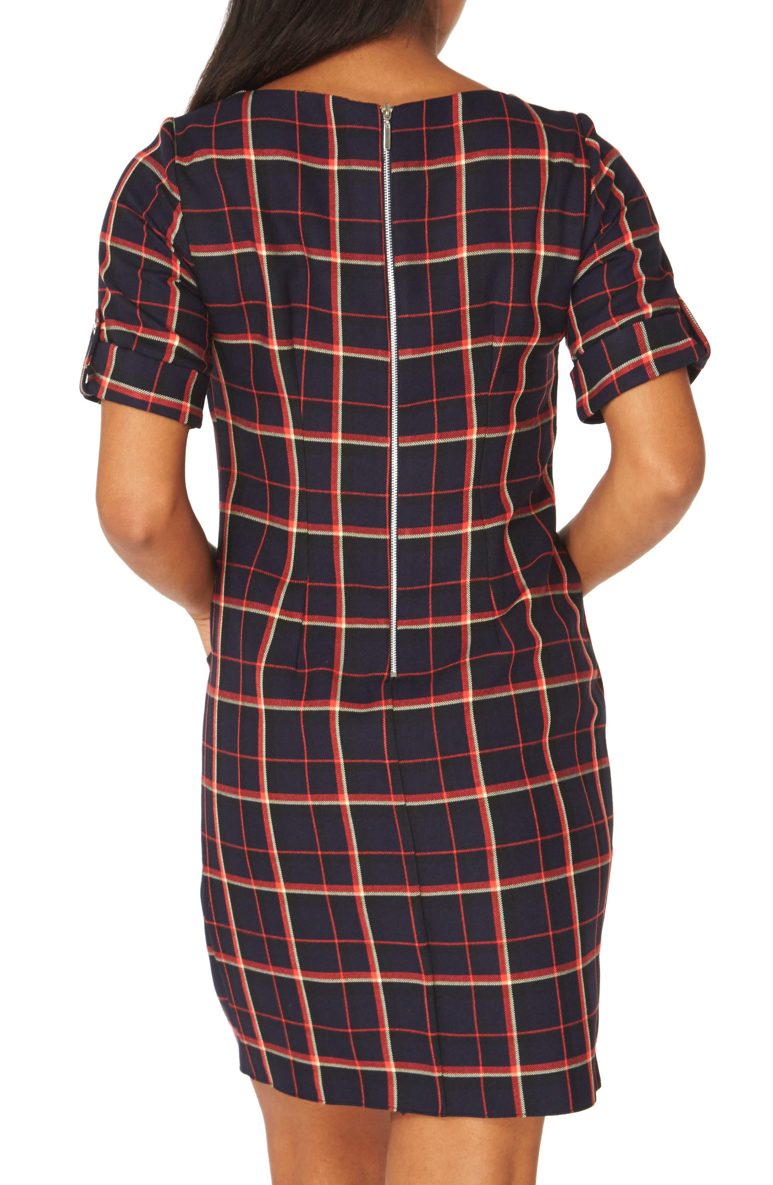 Alternate Image 2  - Dorothy Perkins Check Shift Dress