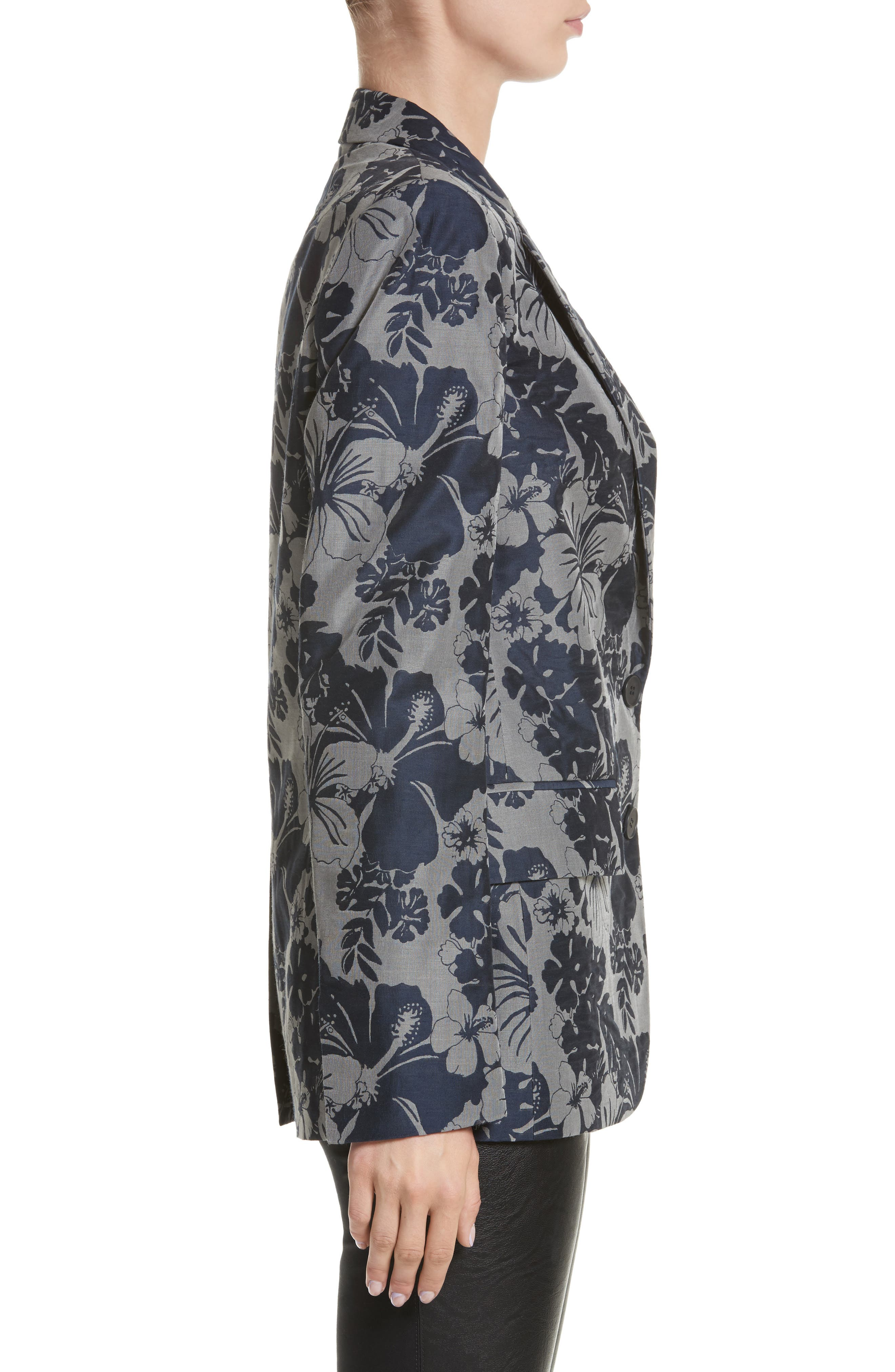 Alternate Image 3  - Stella McCartney Floral Jacquard Blazer