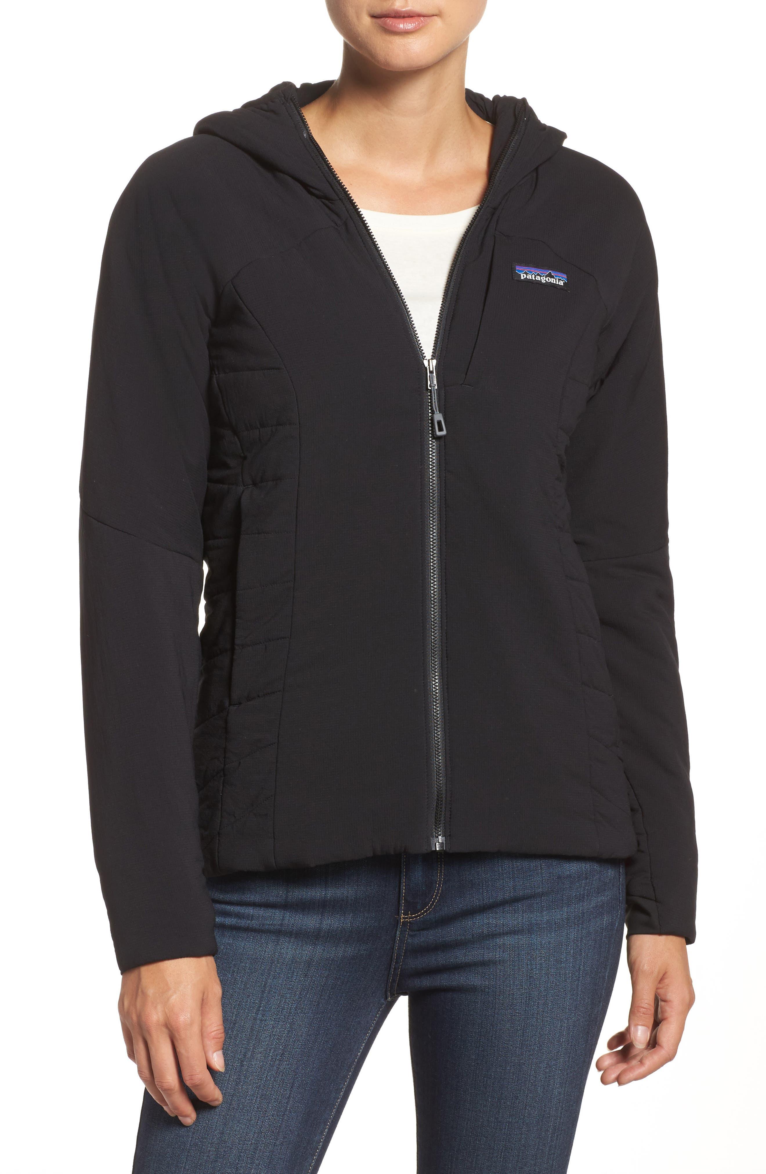 Nano-Air Hooded Jacket,                         Main,                         color, Black