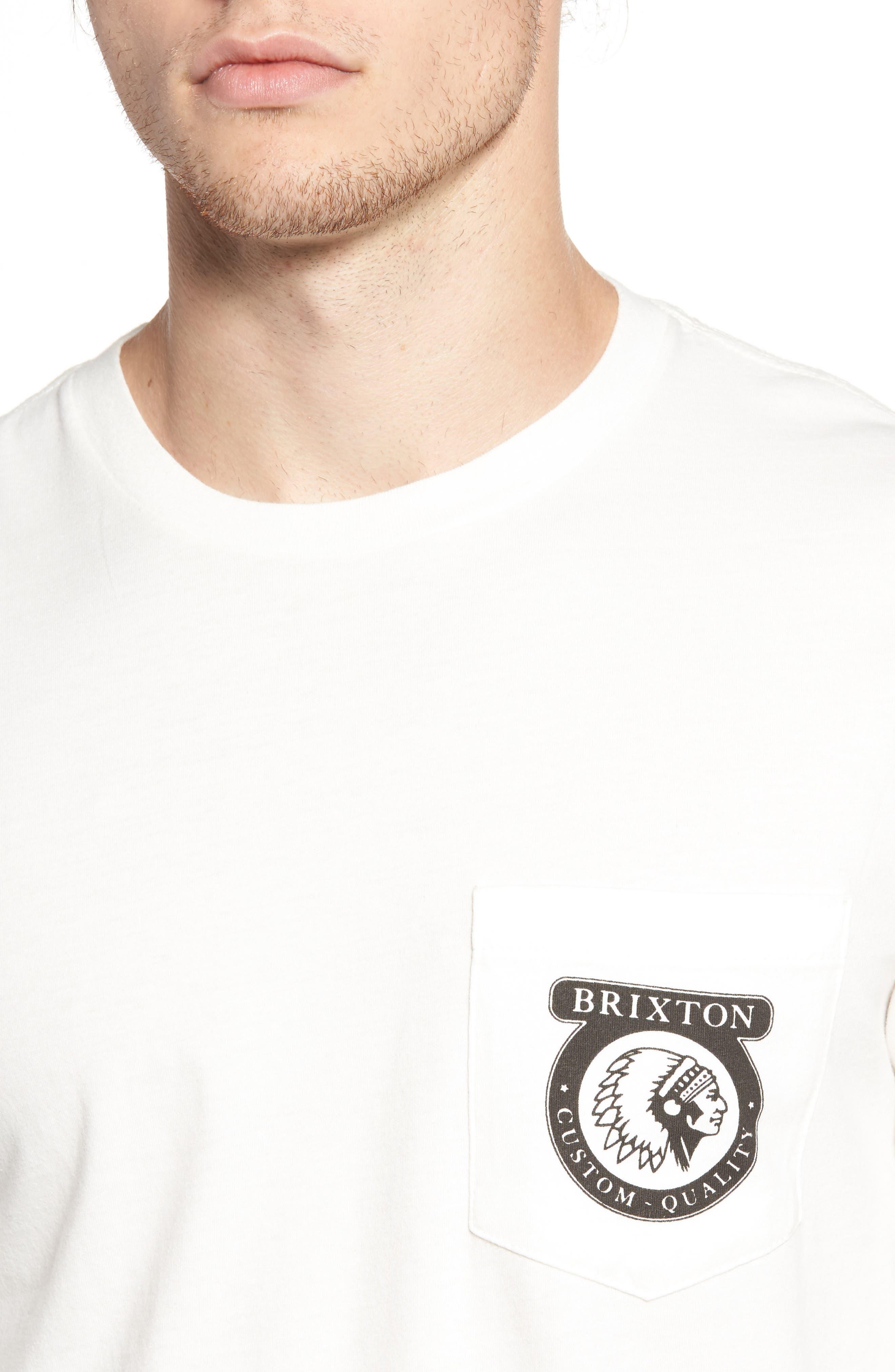 Pocket T-Shirt,                             Alternate thumbnail 4, color,                             Off White