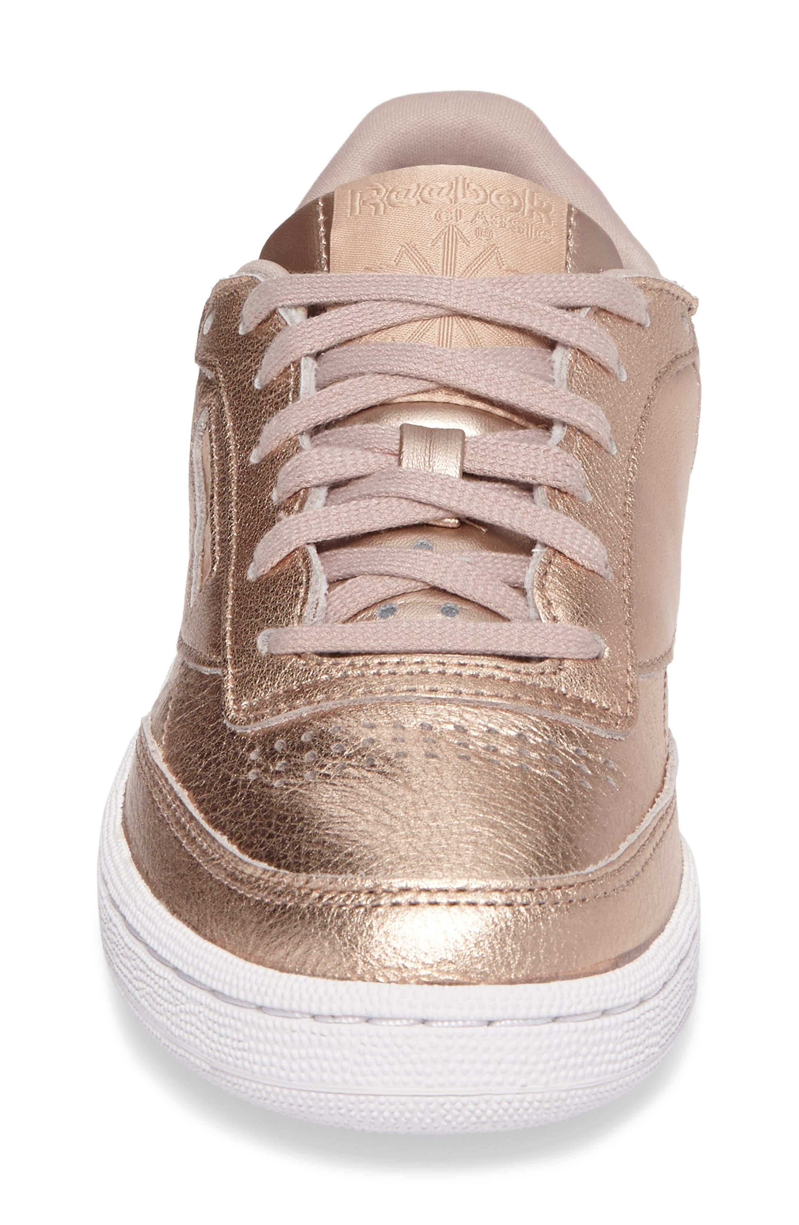 Club C 85 Sneaker,                             Alternate thumbnail 4, color,                             Peach/ White Pearl