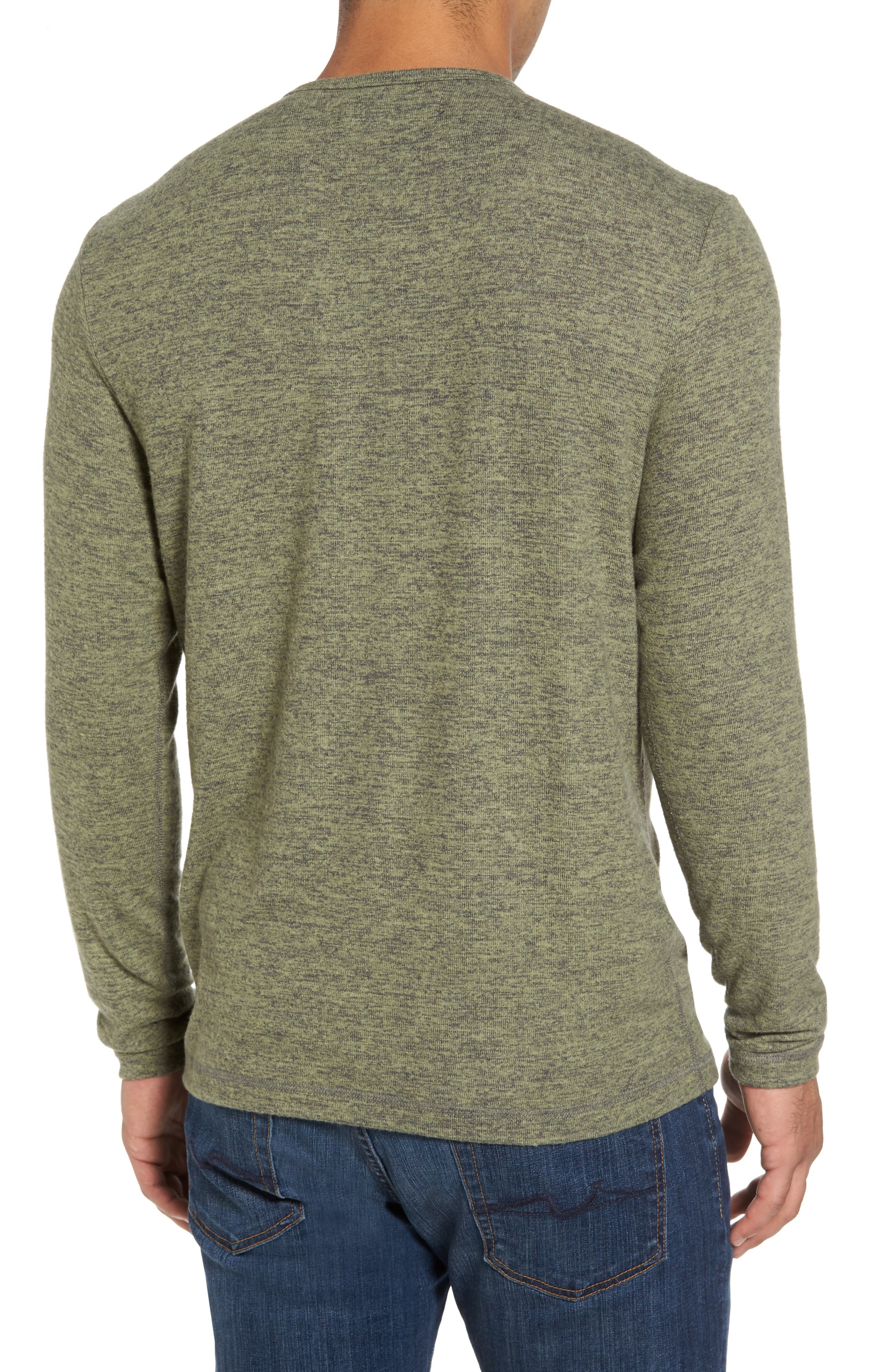 'Leeward' V-Neck Long Sleeve T-Shirt,                             Alternate thumbnail 2, color,                             Duty Tyme Heather