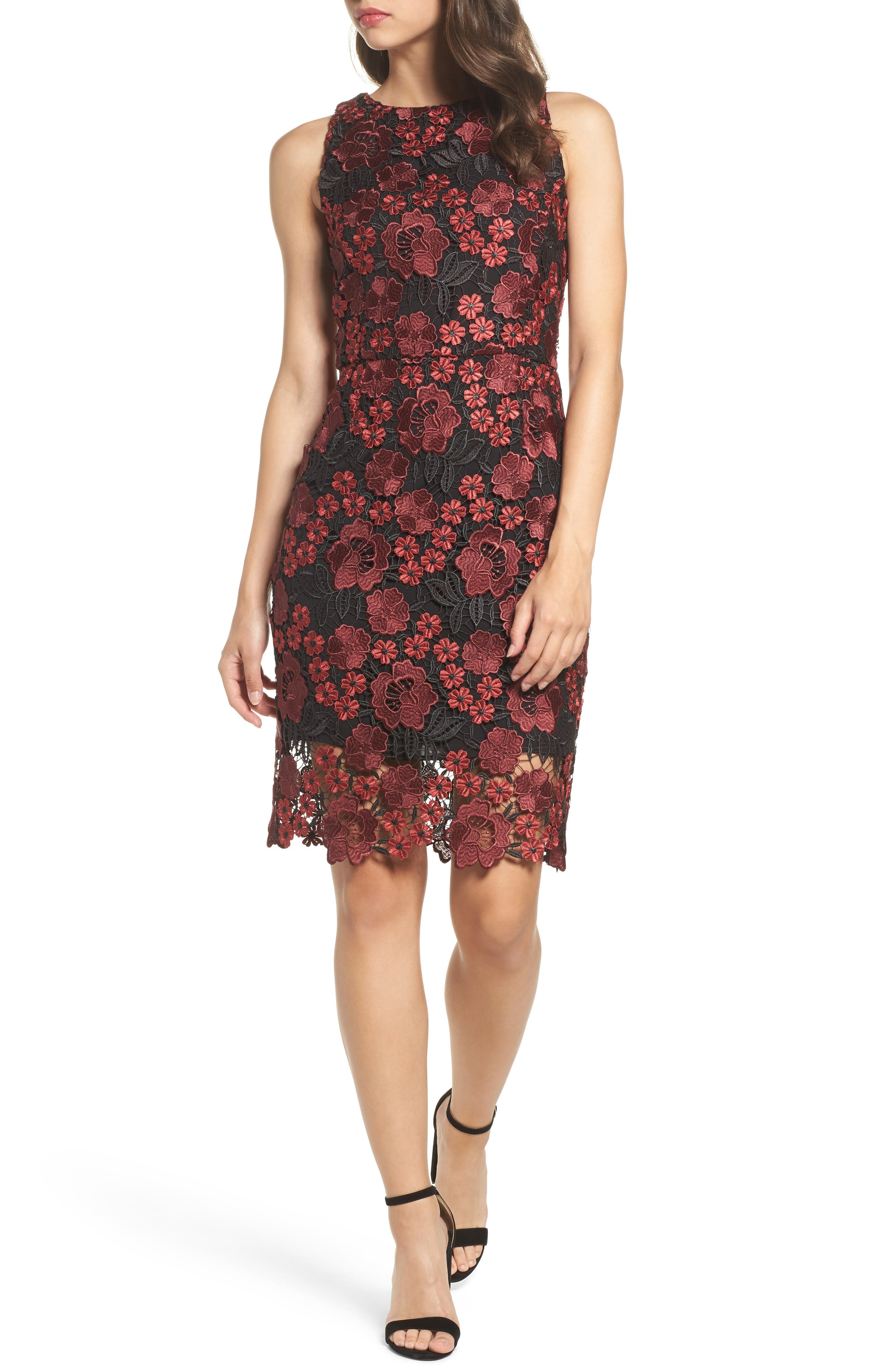 Forest Lily Lace Sheath Dress
