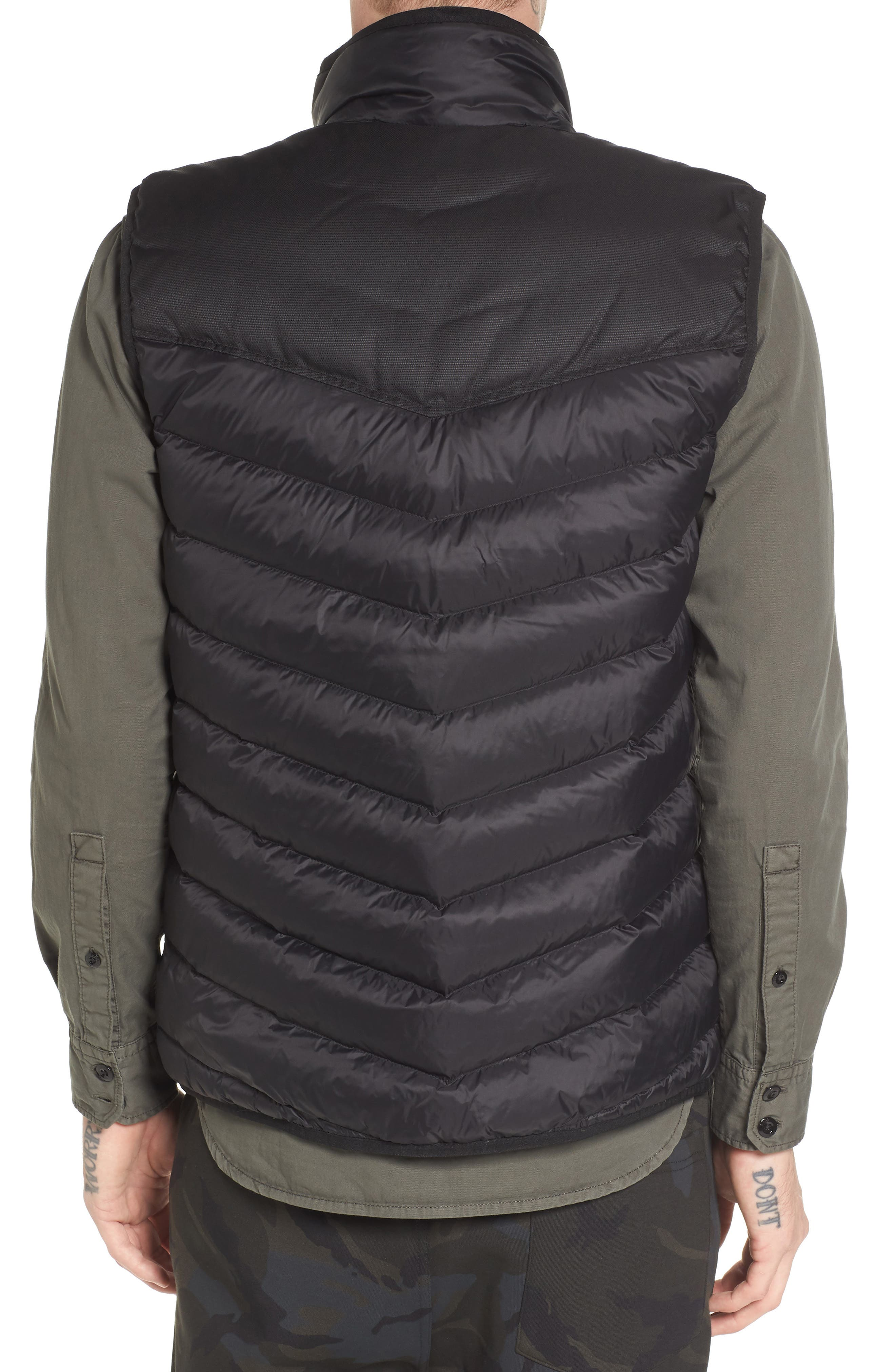 Attacc Down Vest,                             Alternate thumbnail 2, color,                             Black