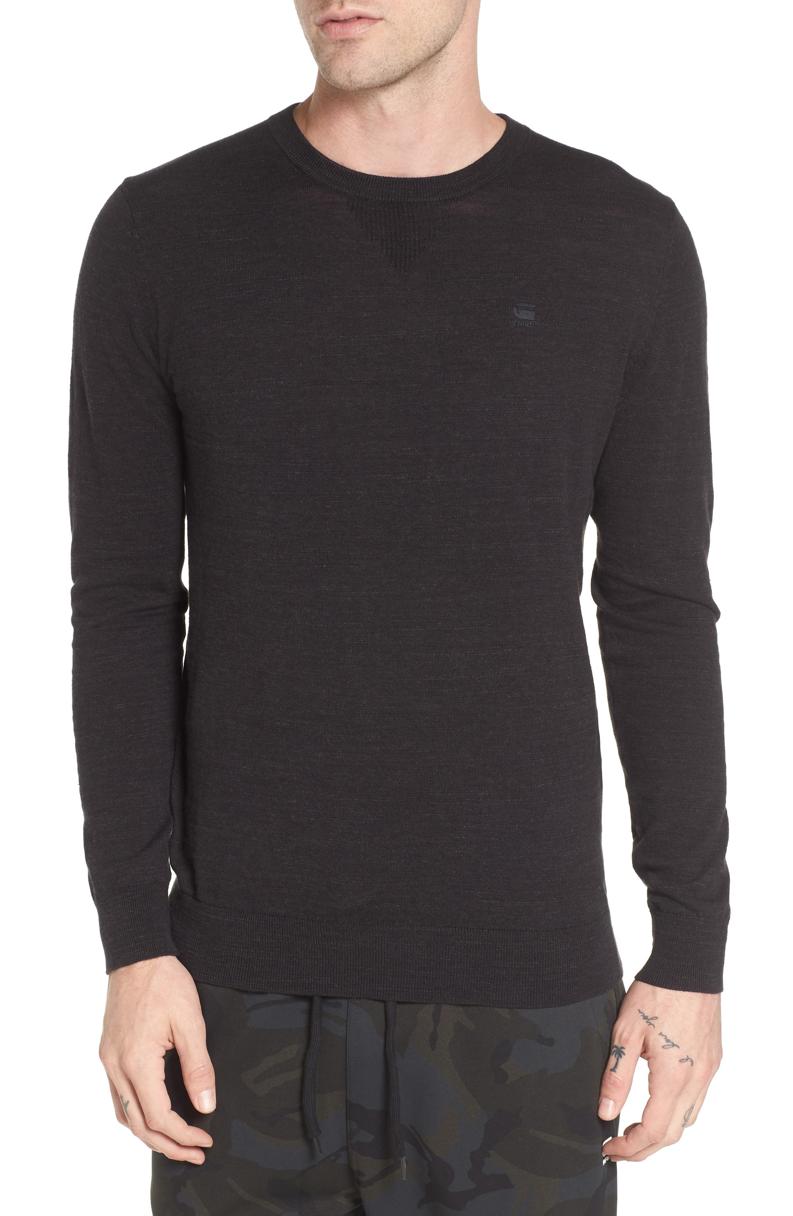 Core Sweater,                             Main thumbnail 1, color,                             Dark Black Heather