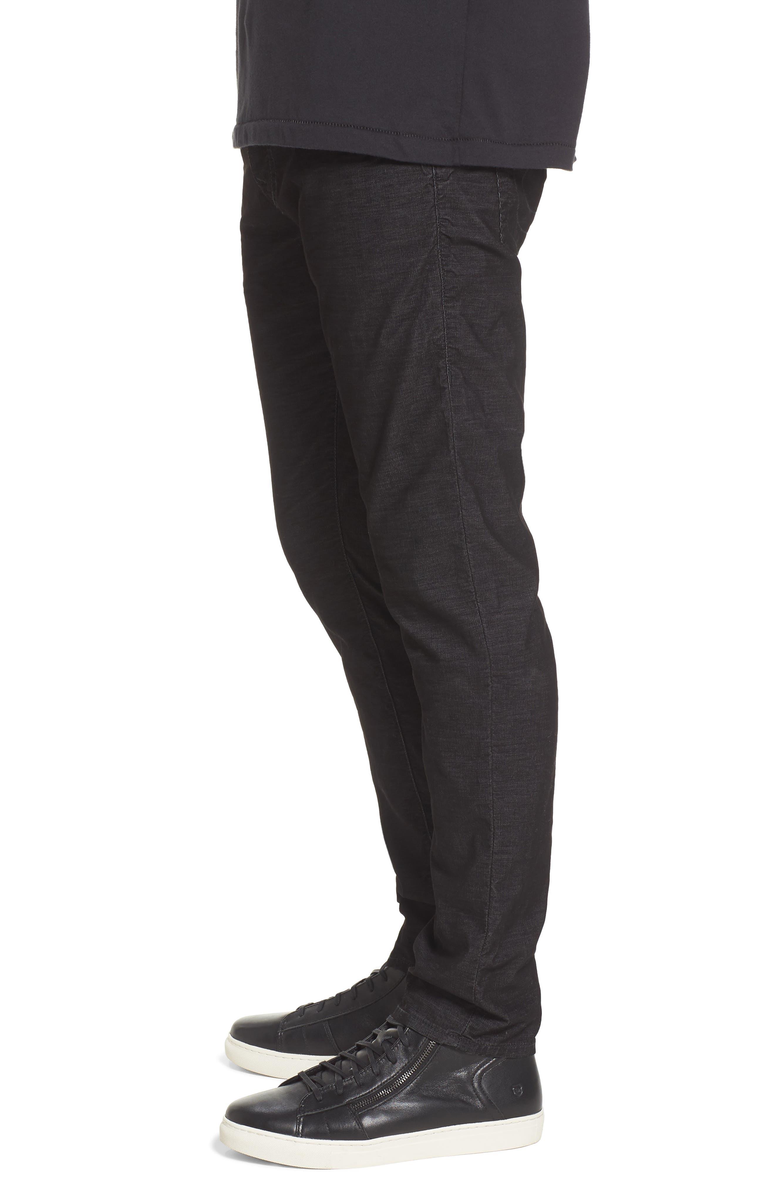 Rocco Skinny Fit Corduroy Jeans,                             Alternate thumbnail 3, color,                             Black