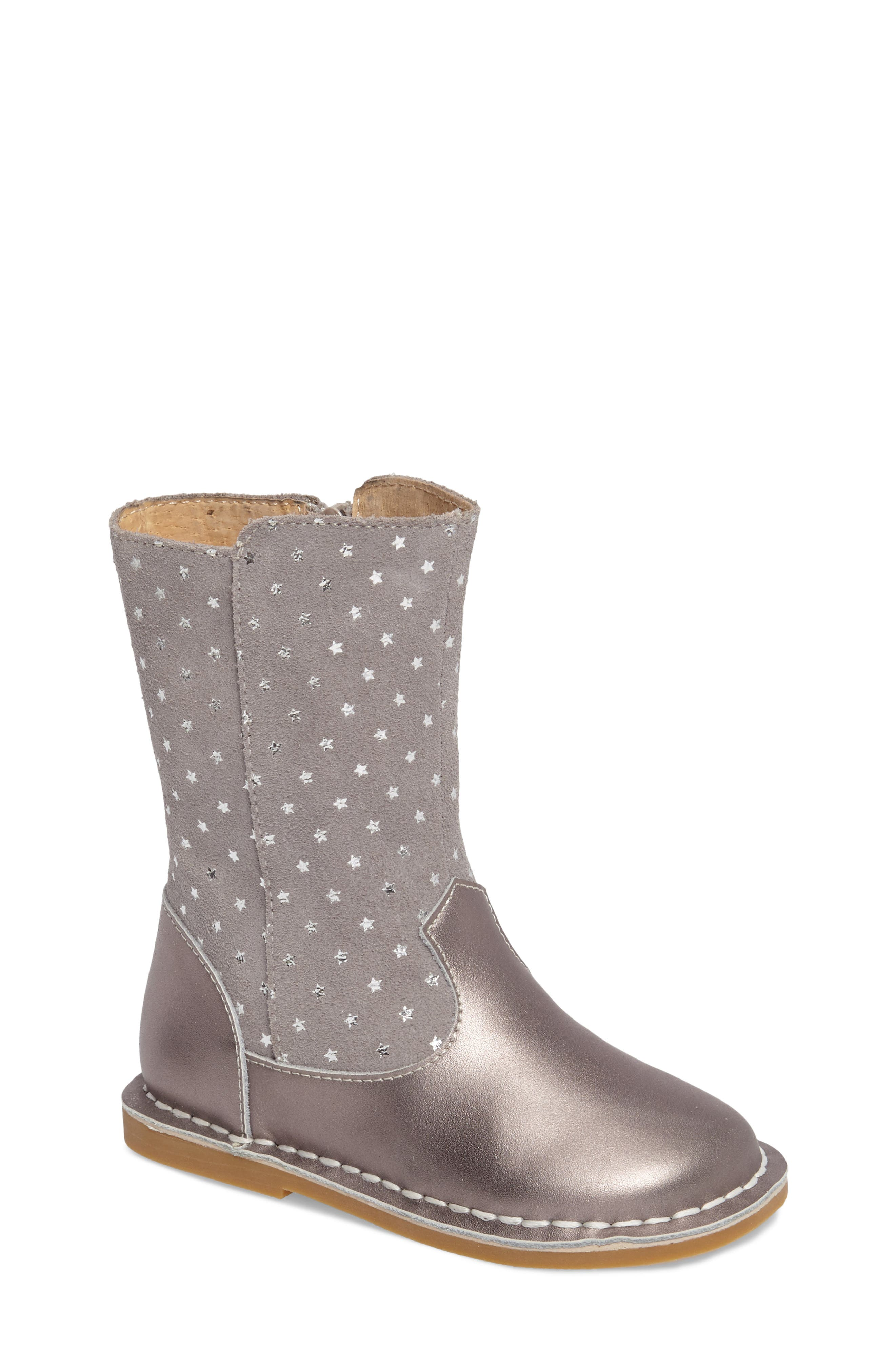 Livie & Luca Vega Metallic Star Bootie (Baby, Walker, Toddler & Little Kid)