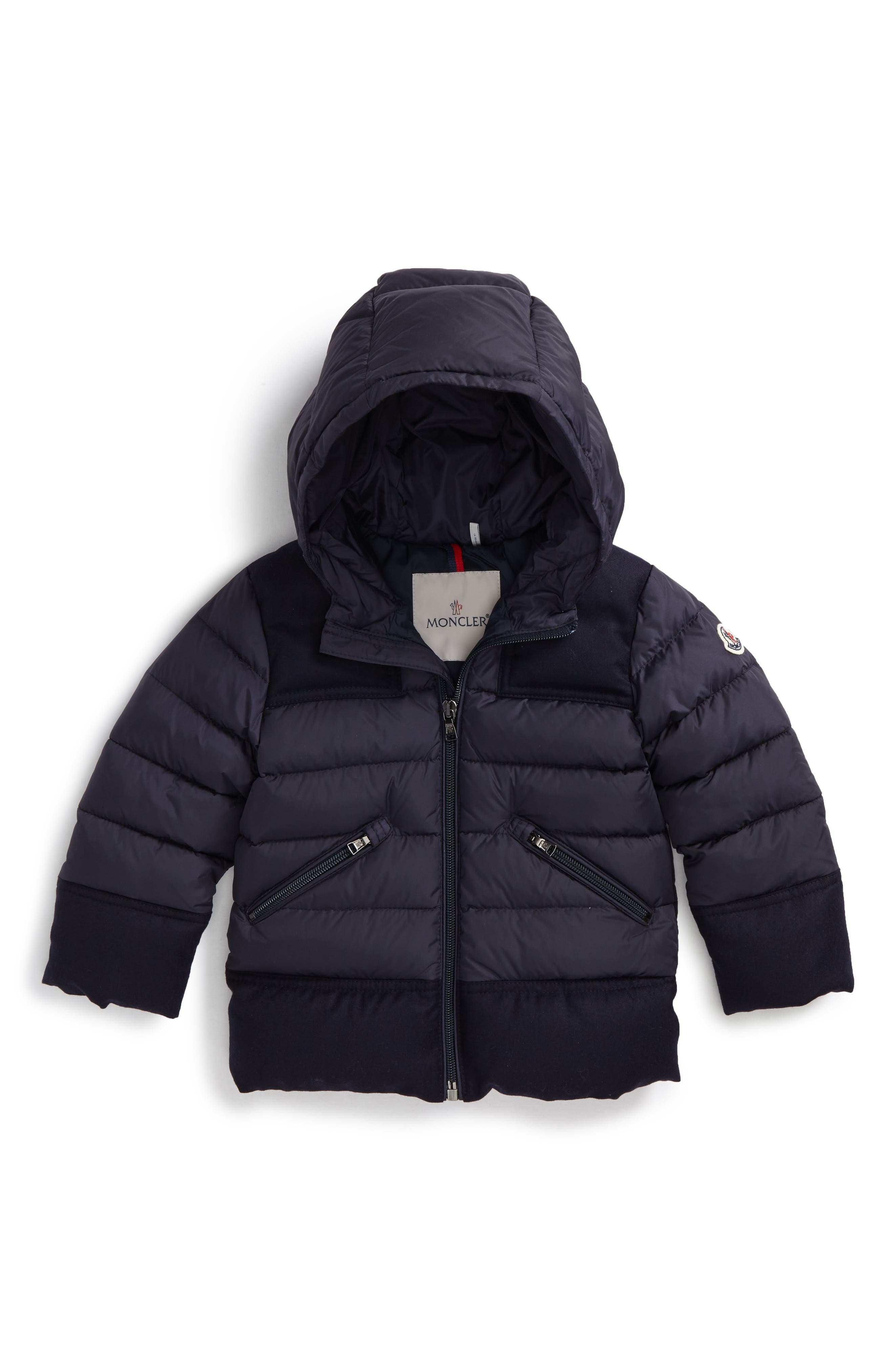 Alternate Image 1 Selected - Moncler Hector Hooded Down Jacket (Baby Boys & Toddler Boys)