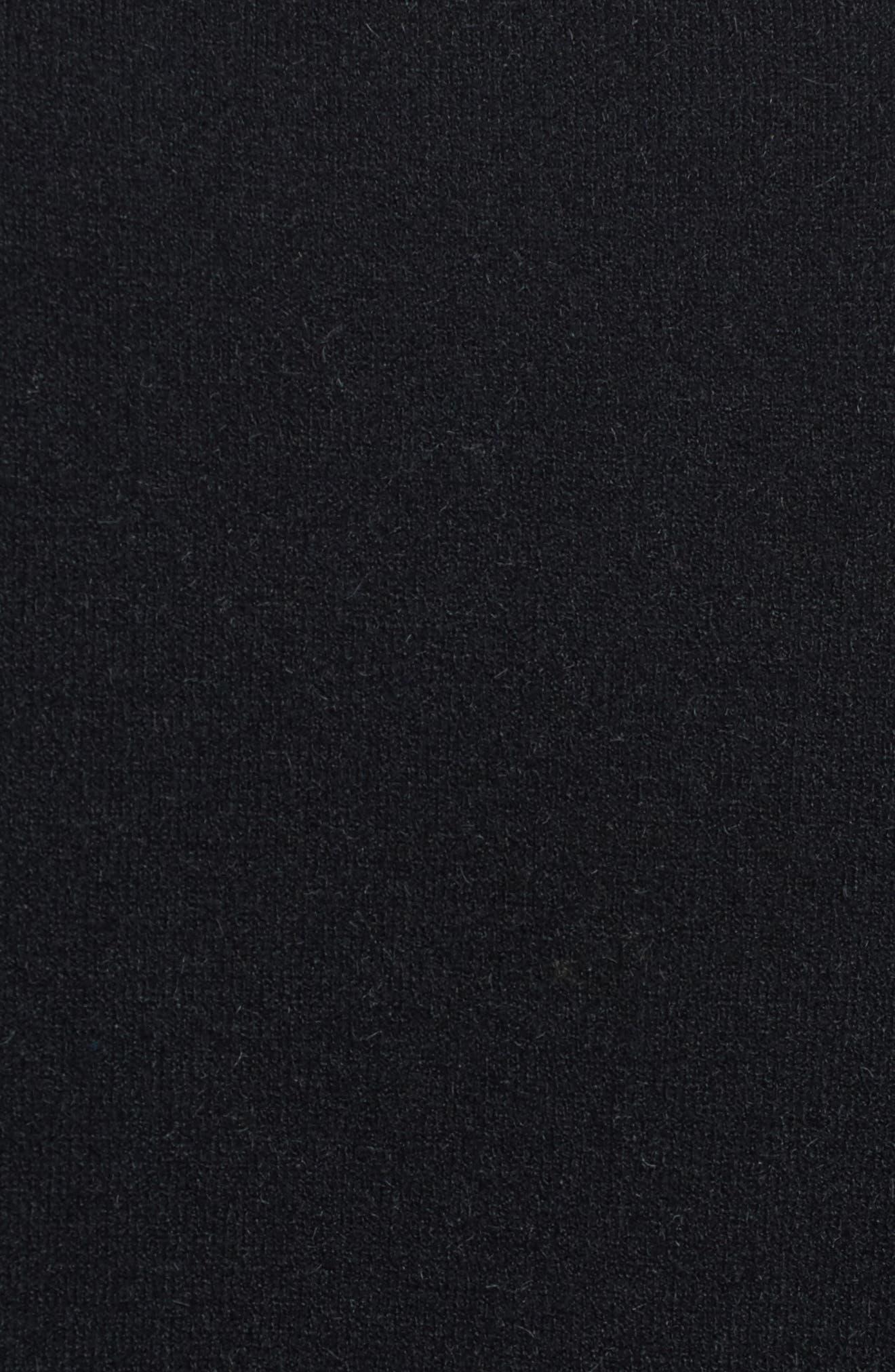 Velvet Back Sweater,                             Alternate thumbnail 5, color,                             Black