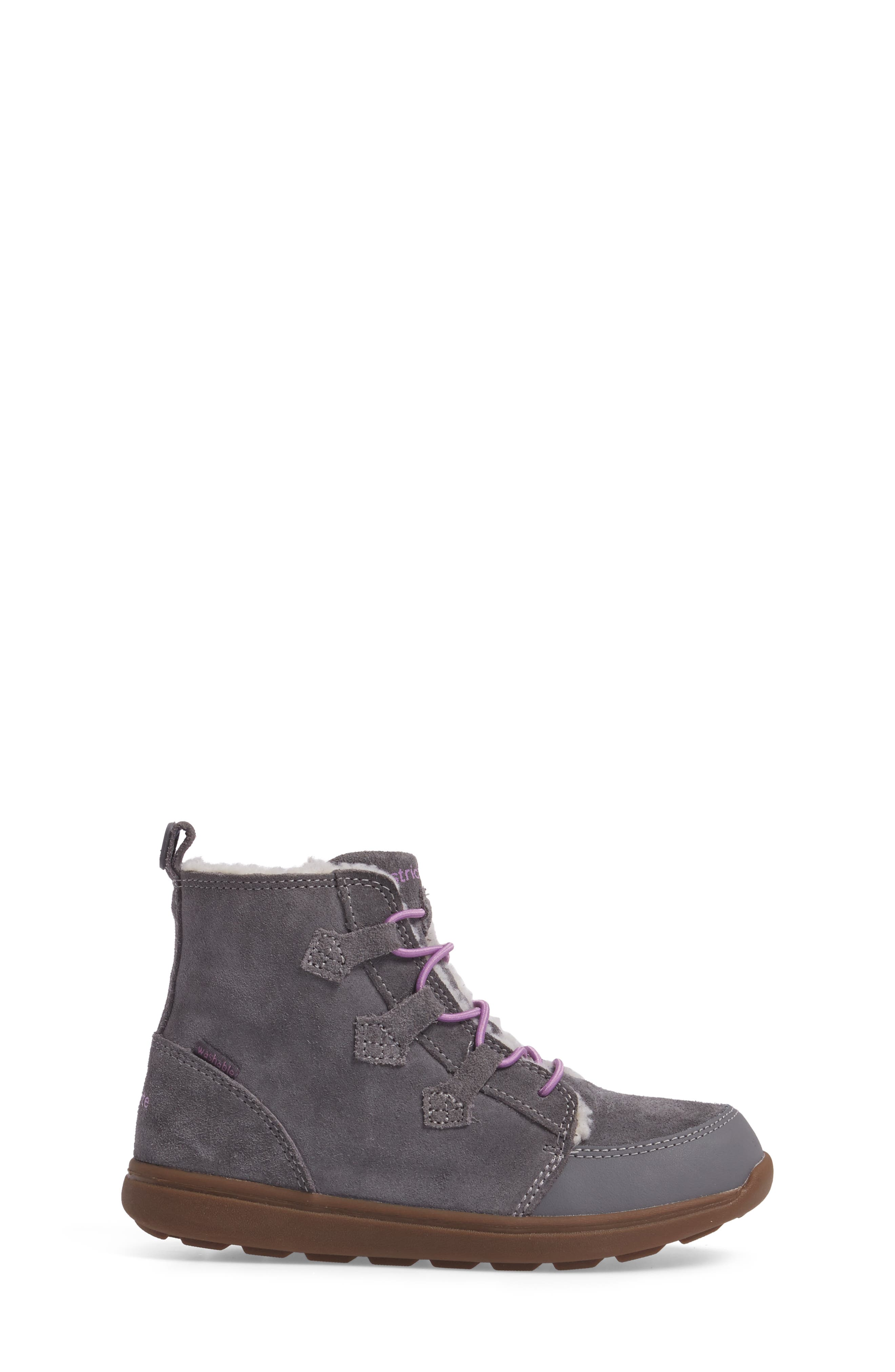 Alternate Image 3  - Stride Rite Made2Play® Washable Faux Fur Heather Bootie (Toddler & Little Kid)