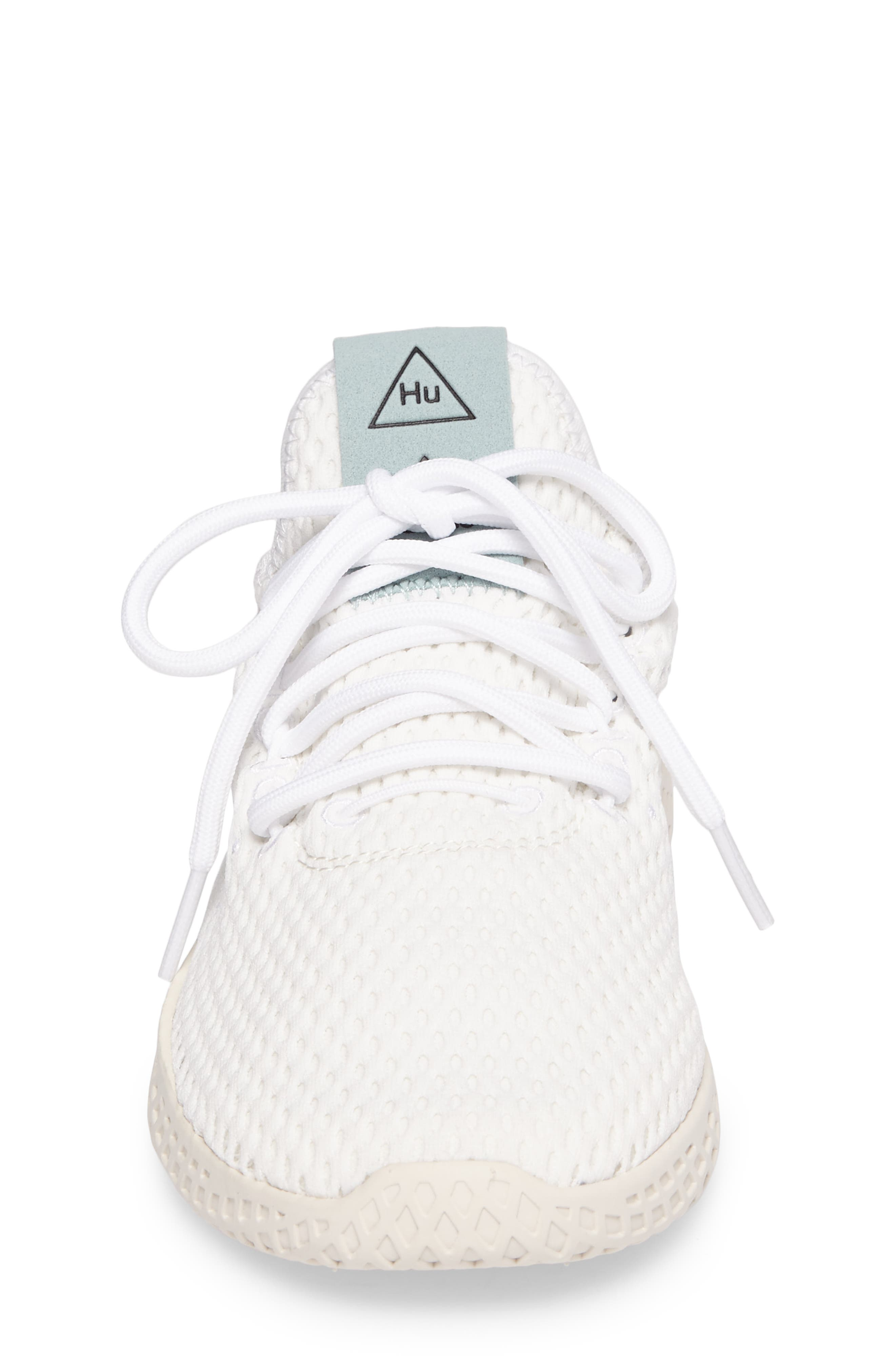 Originals x Pharrell Williams The Summers Mesh Sneaker,                             Alternate thumbnail 4, color,                             Footwear White/ Linen Green