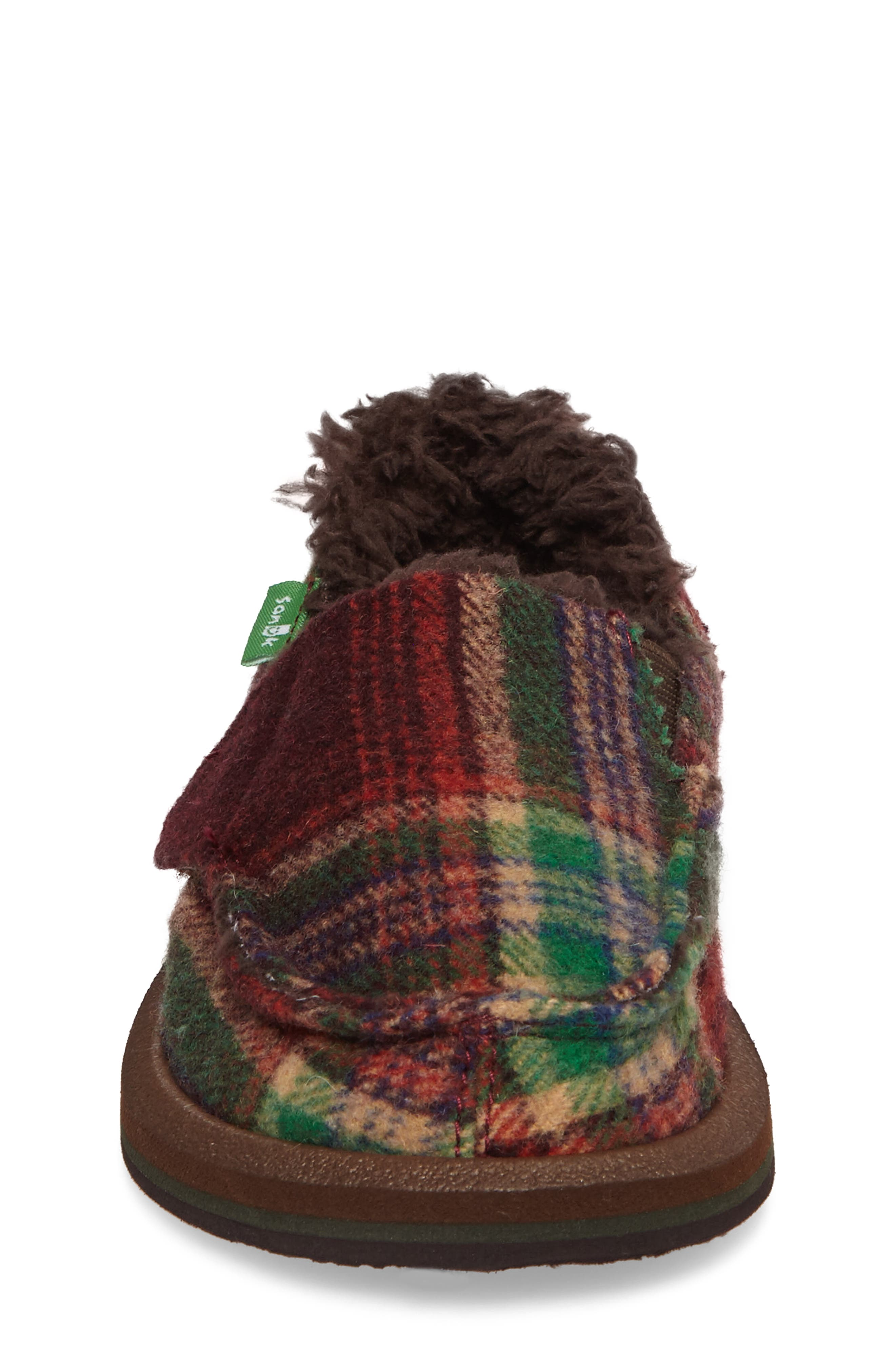 Alternate Image 4  - Sanuk Vagabond Plaid Chill Faux Fur Slip-On (Toddler, Little Kid & Big Kid)