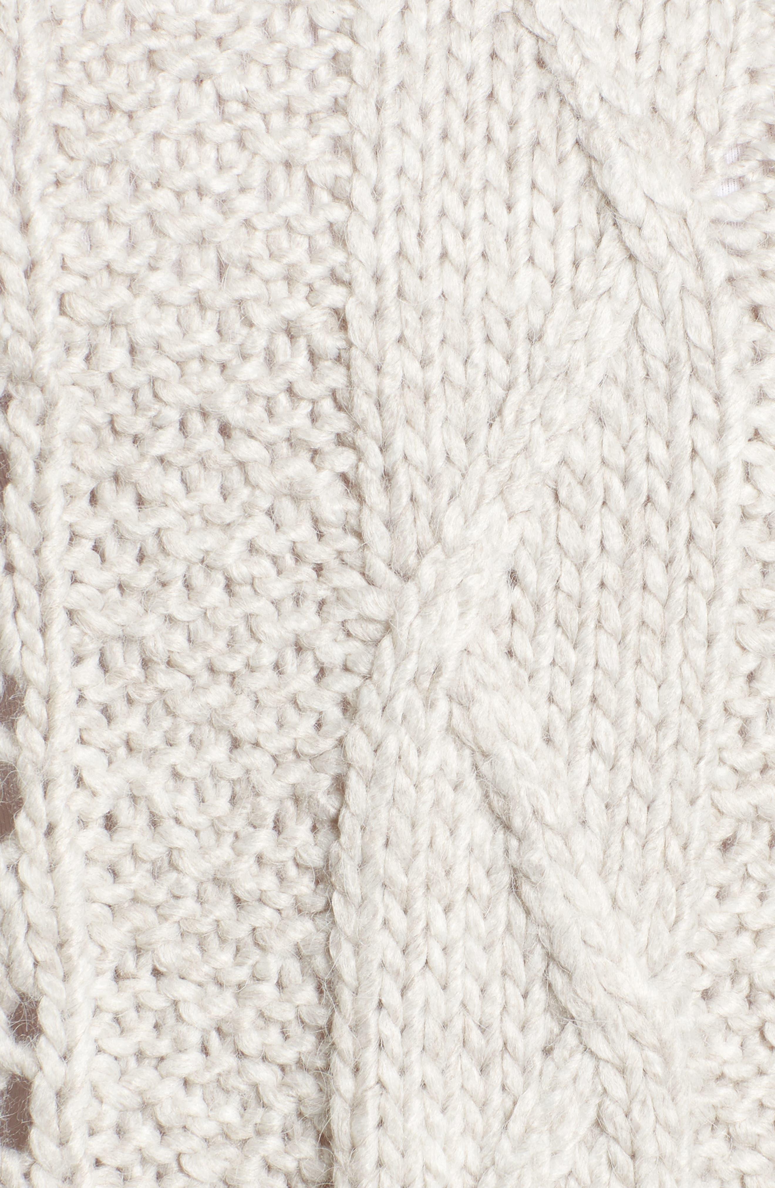 Prilla Fringe Cowl Neck Sweater,                             Alternate thumbnail 5, color,                             Latte