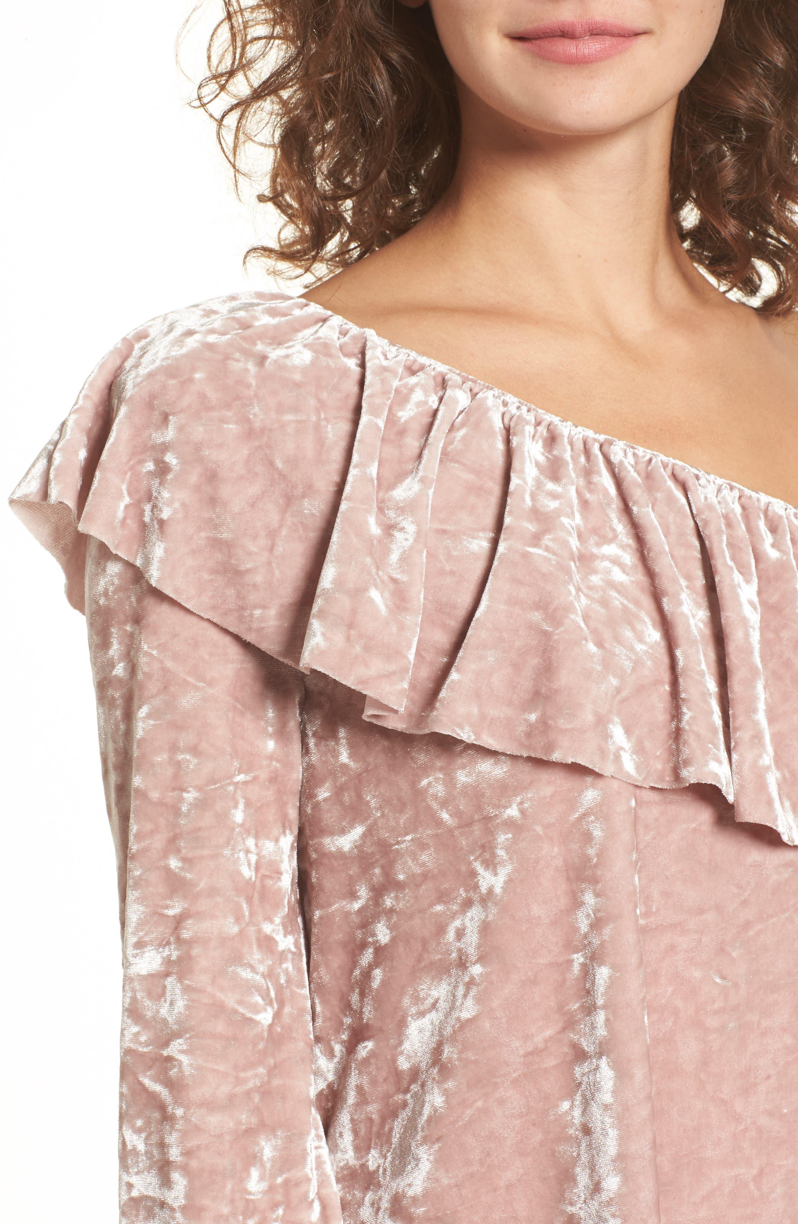 Alternate Image 4  - BP. Velour One-Shoulder Top