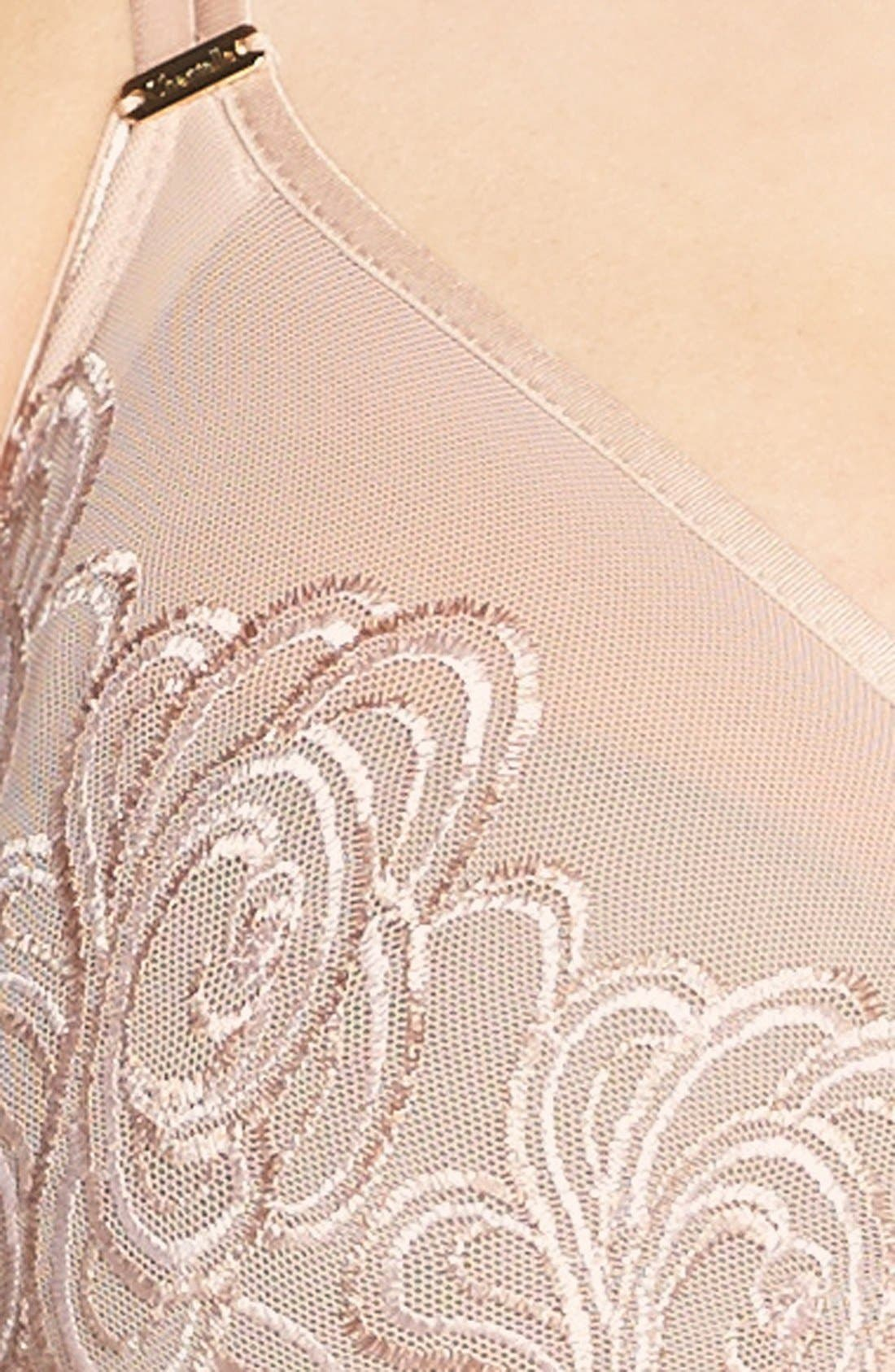 Alternate Image 5  - Chantelle Intimates 'Barocco' Embroidered Sheer Underwire Molded Bra (D-Cup & Up)