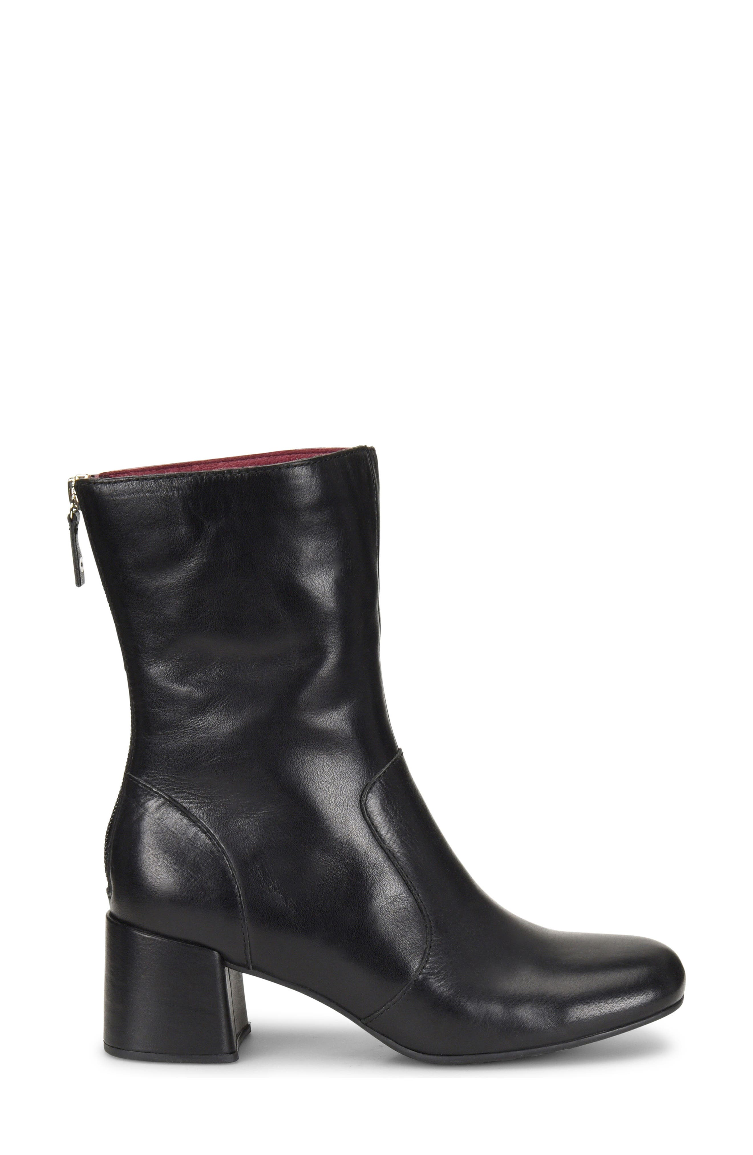Florence Bootie,                             Alternate thumbnail 3, color,                             Black Leather