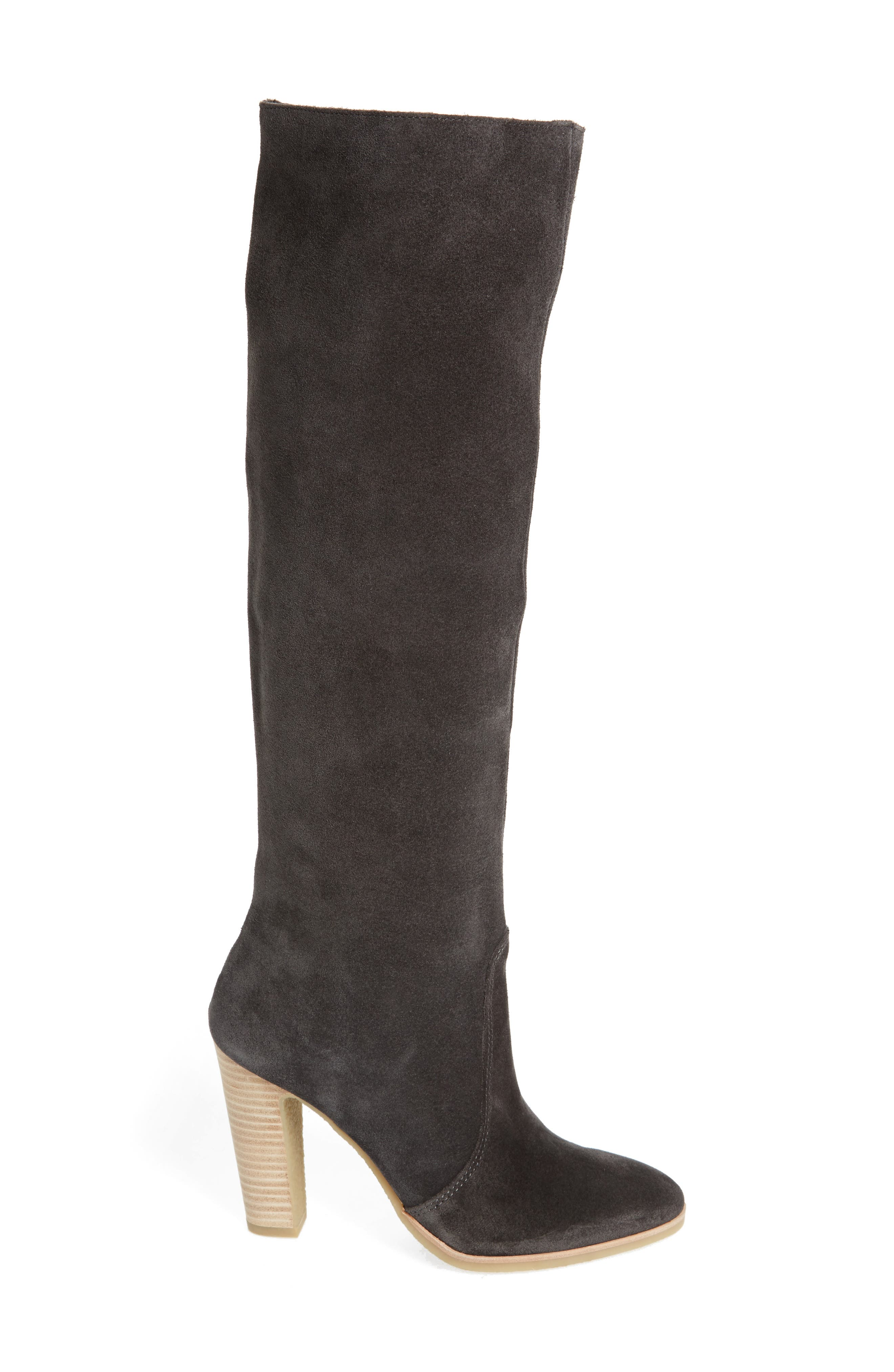 Celine Knee-High Boot,                             Alternate thumbnail 3, color,                             Anthracite Suede