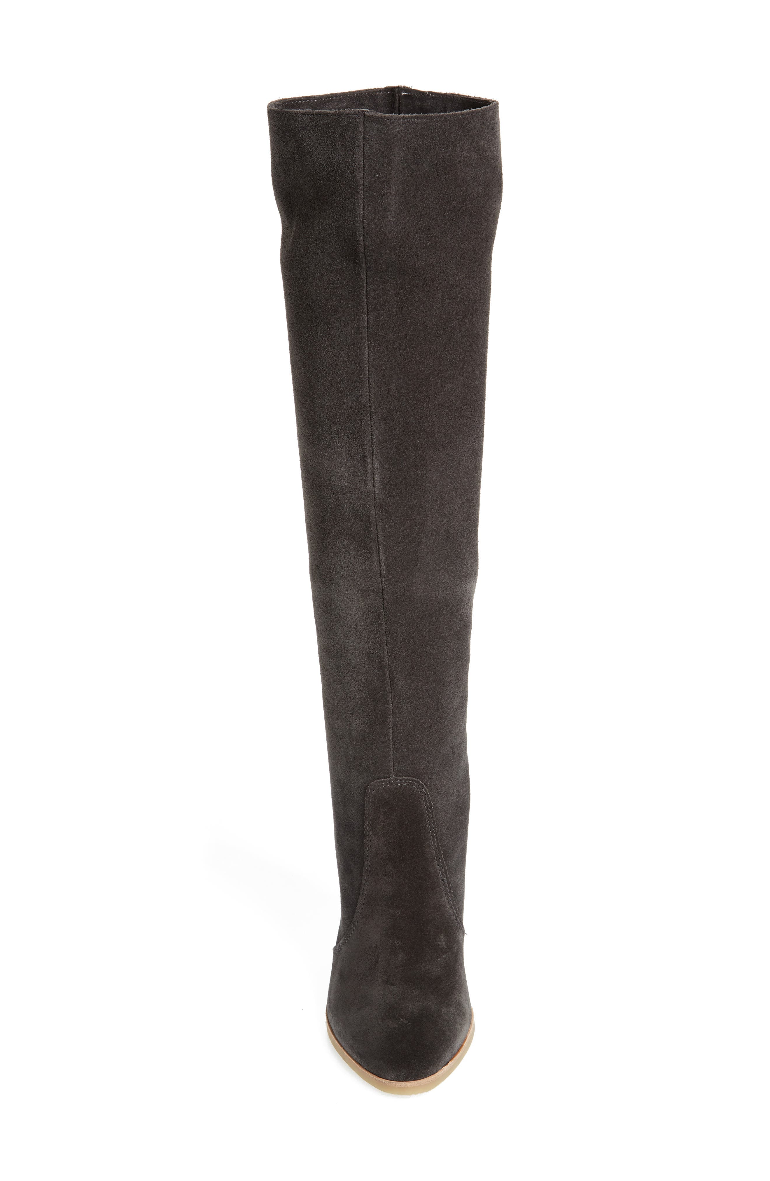 Celine Knee-High Boot,                             Alternate thumbnail 4, color,                             Anthracite Suede