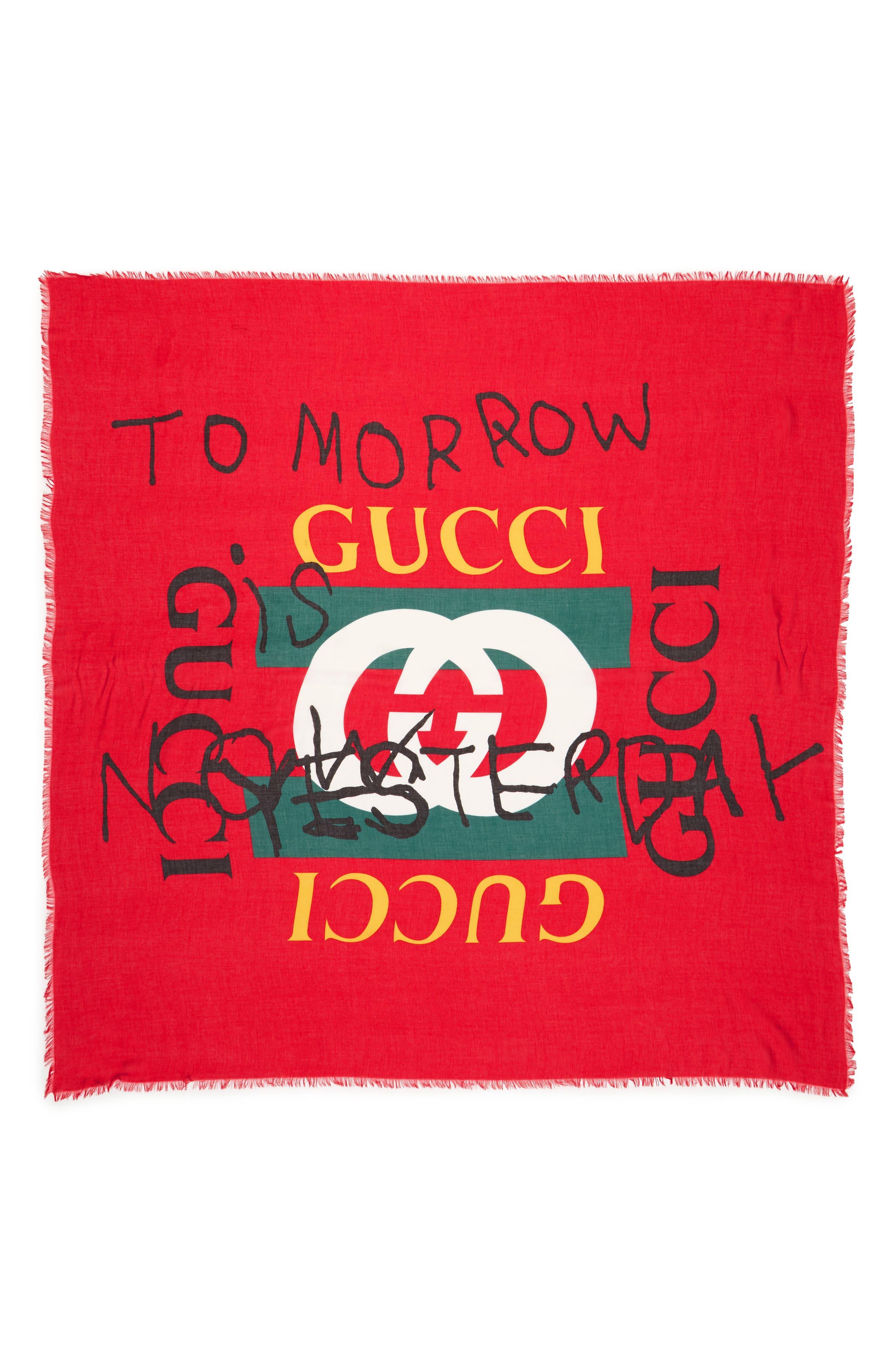 Gucci Coco Capitán Print Scarf