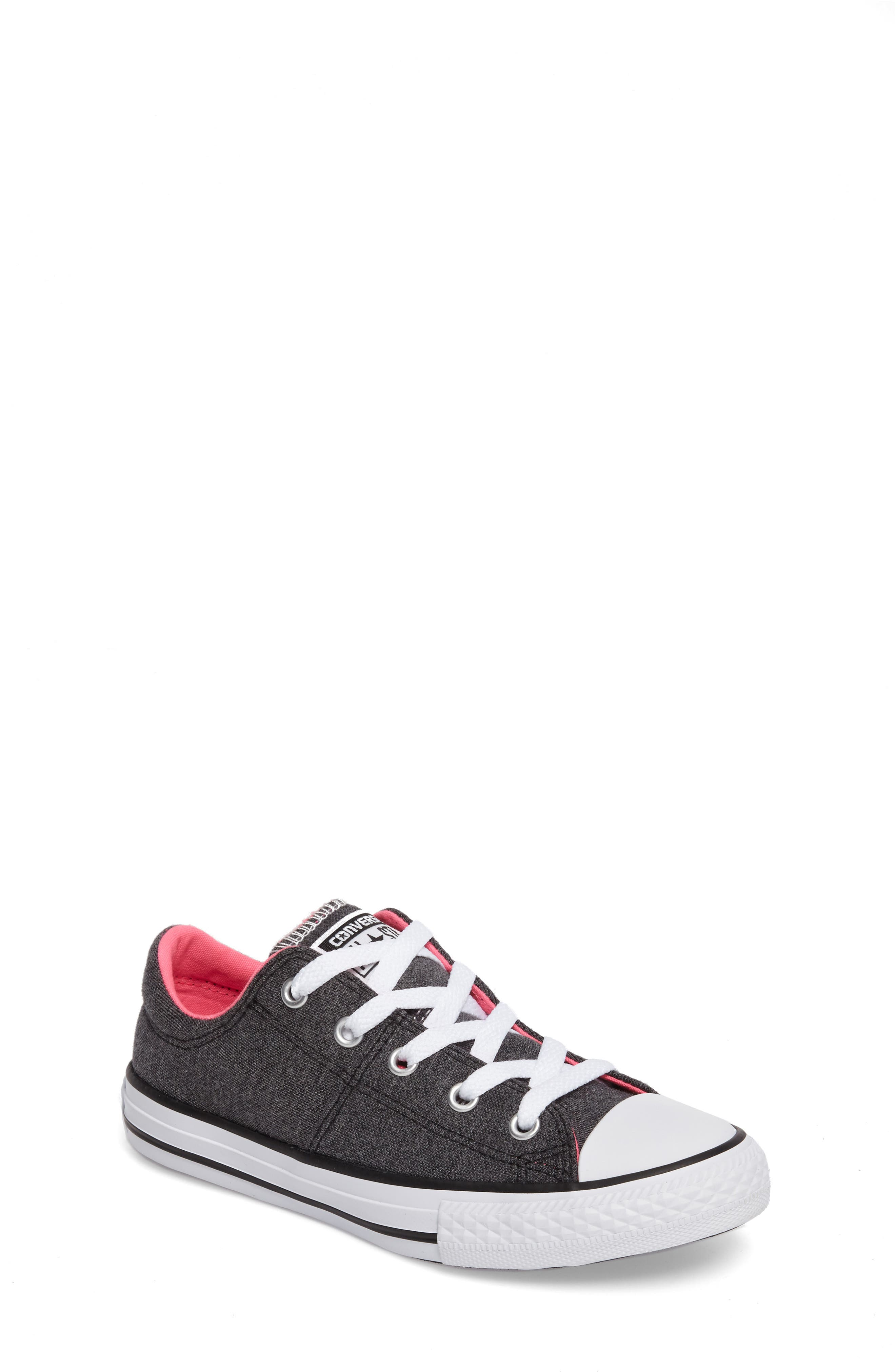 Chuck Taylor<sup>®</sup> All Star<sup>®</sup> Madison Low Top Sneaker,                             Main thumbnail 1, color,                             Black/ Pink Canvas