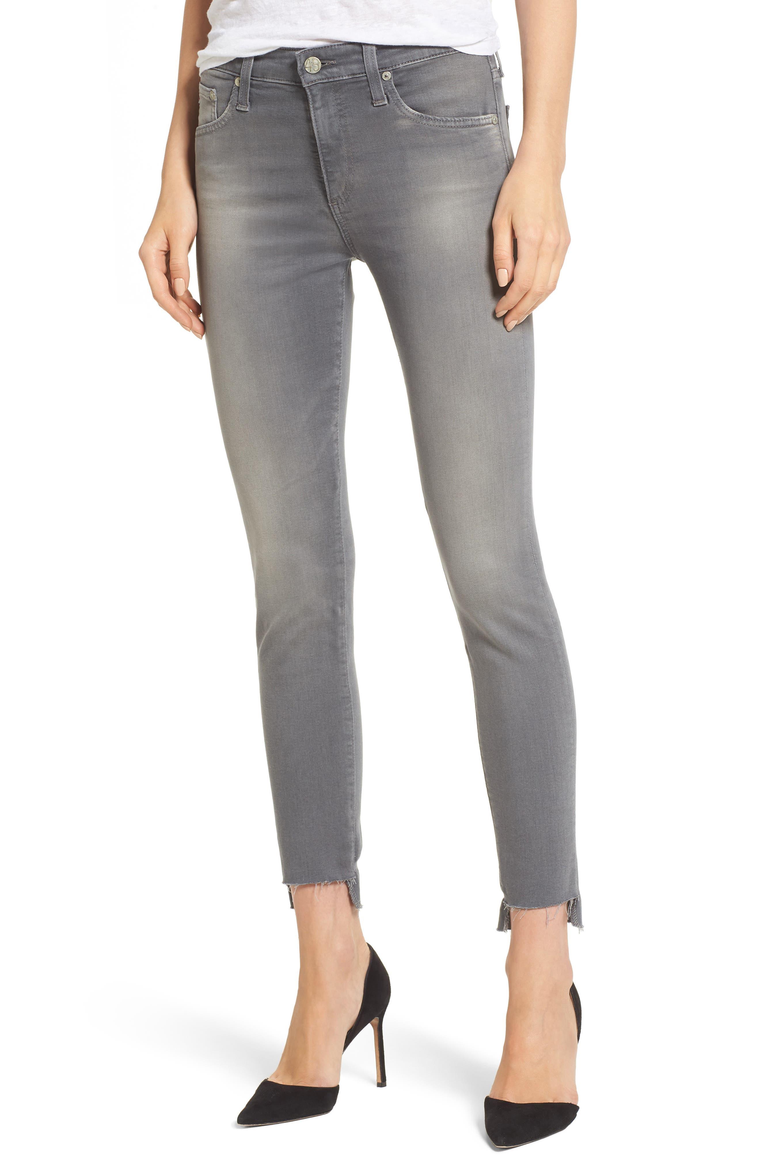 Farrah High Waist Ankle Skinny Jeans,                             Main thumbnail 1, color,                             10 Years Grey Shadow