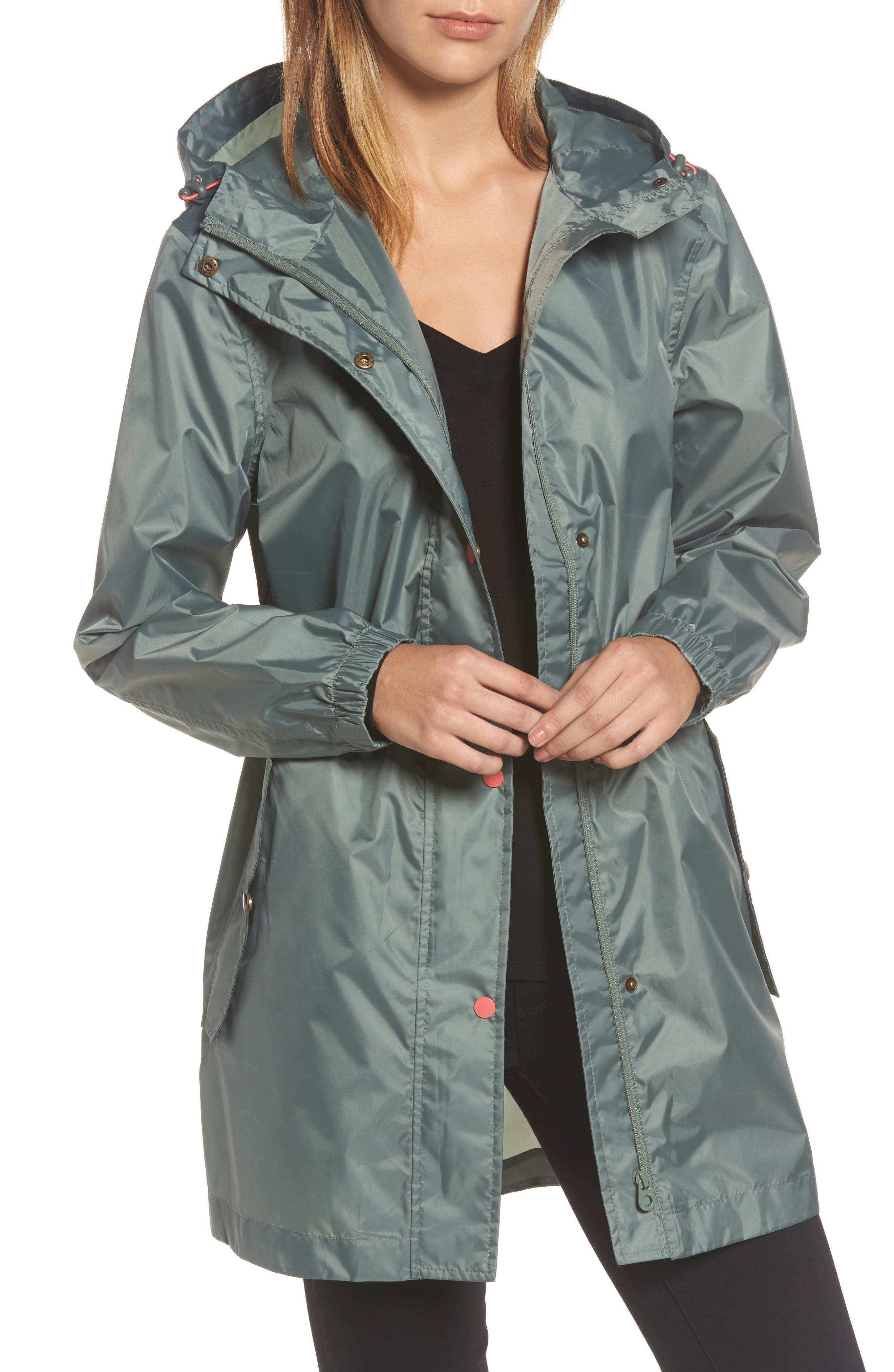 Alternate Image 1 Selected - Joules Right as Rain Packable Hooded Raincoat