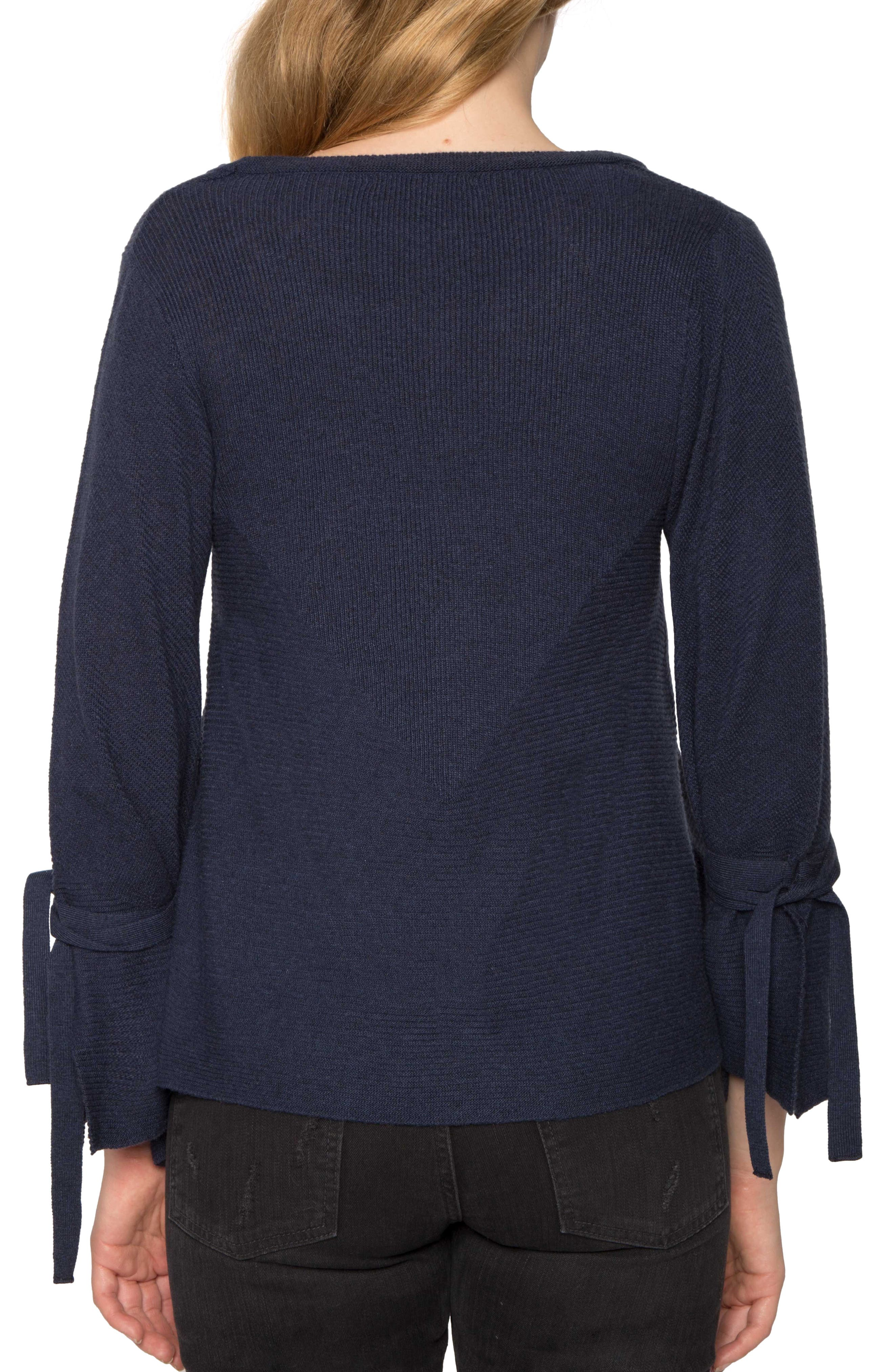 Alternate Image 2  - Willow & Clay Tie Sleeve Sweater