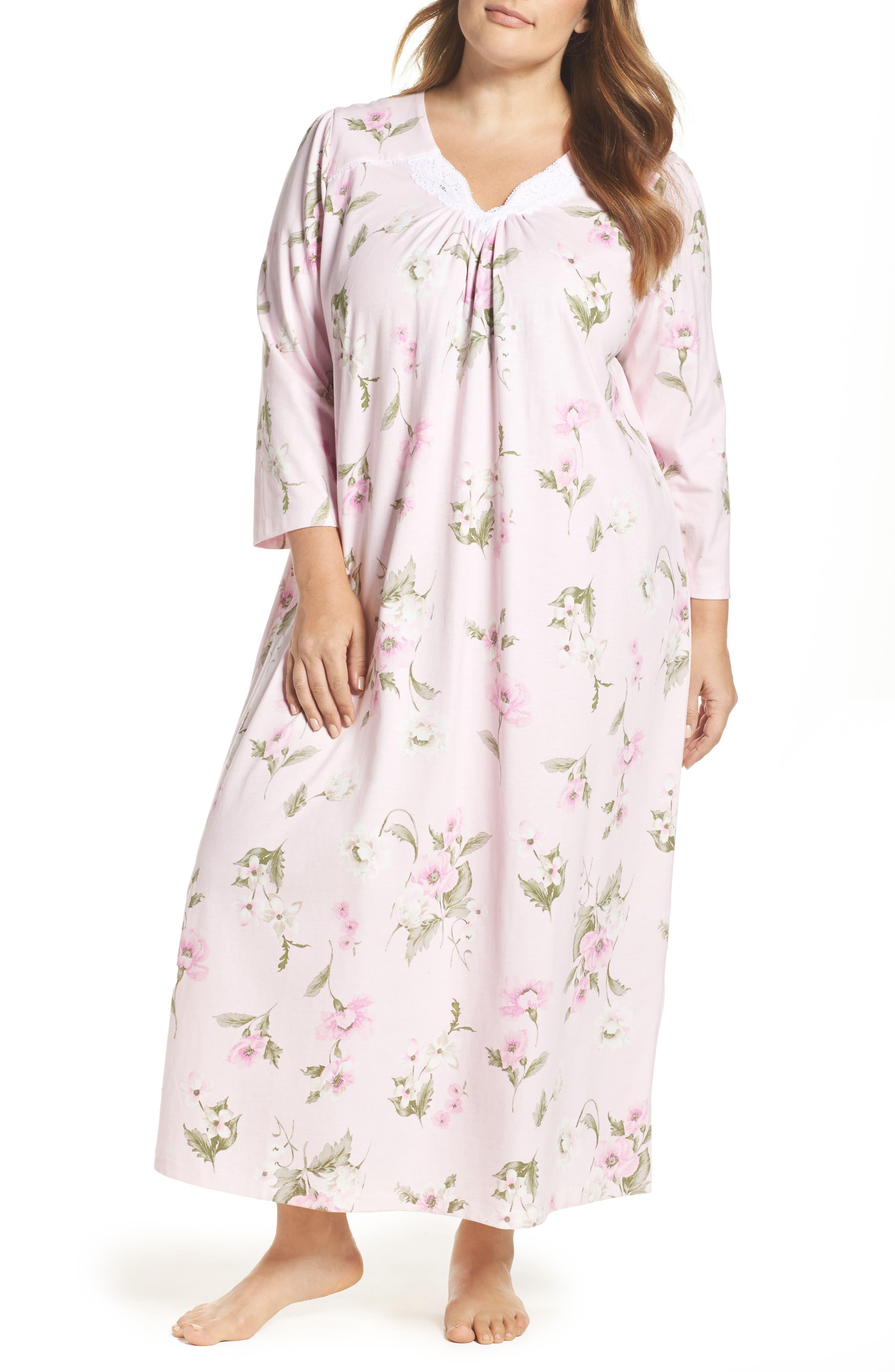 Knit Nightgown,                         Main,                         color, English Petal
