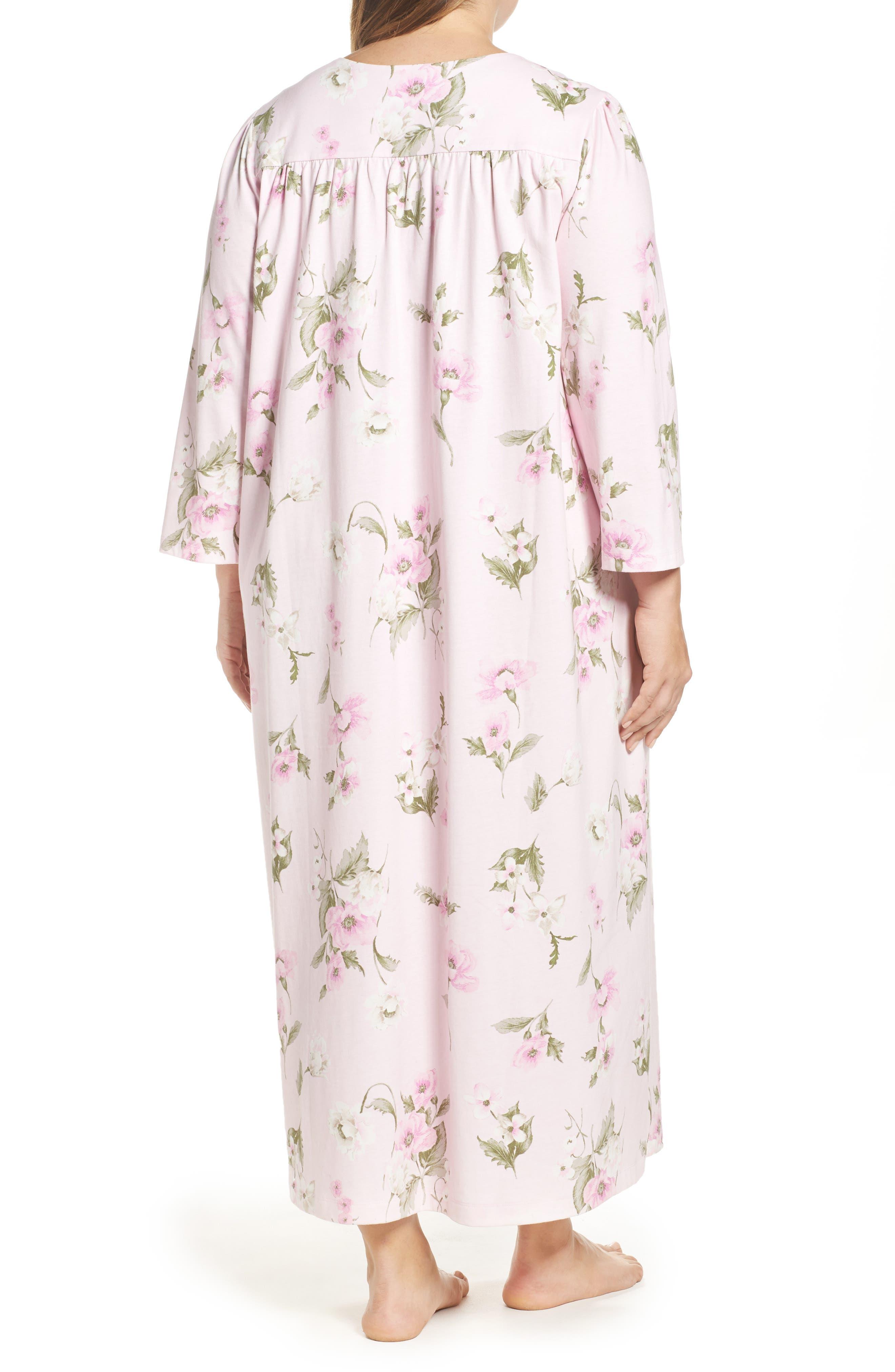 Alternate Image 2  - Carole Hochman Knit Nightgown (Plus Size)