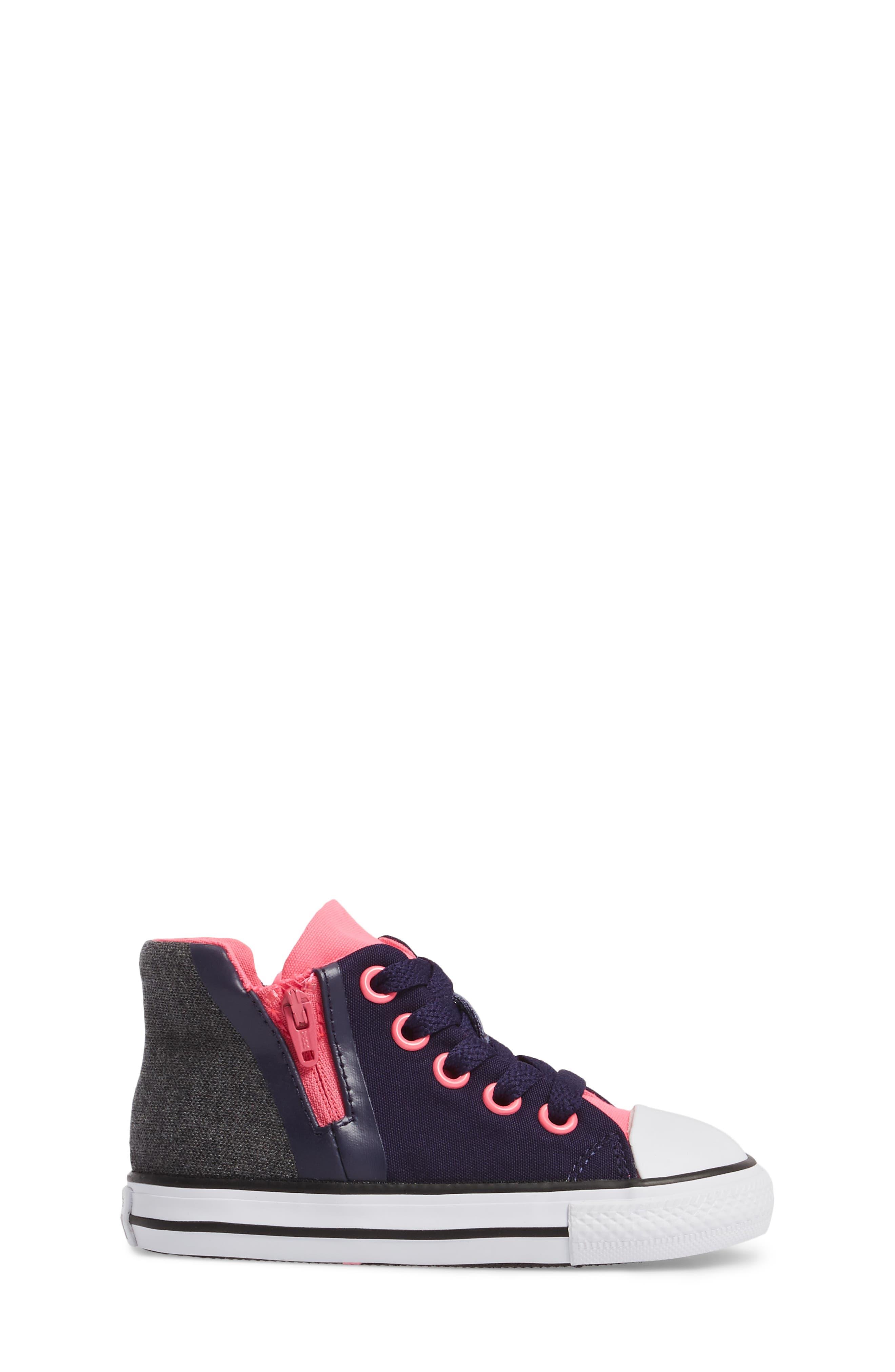 Alternate Image 3  - Converse Chuck Taylor® All Star® Sport Zip High Top Sneaker (Baby, Walker, Toddler, Little Kid & Big Kid)