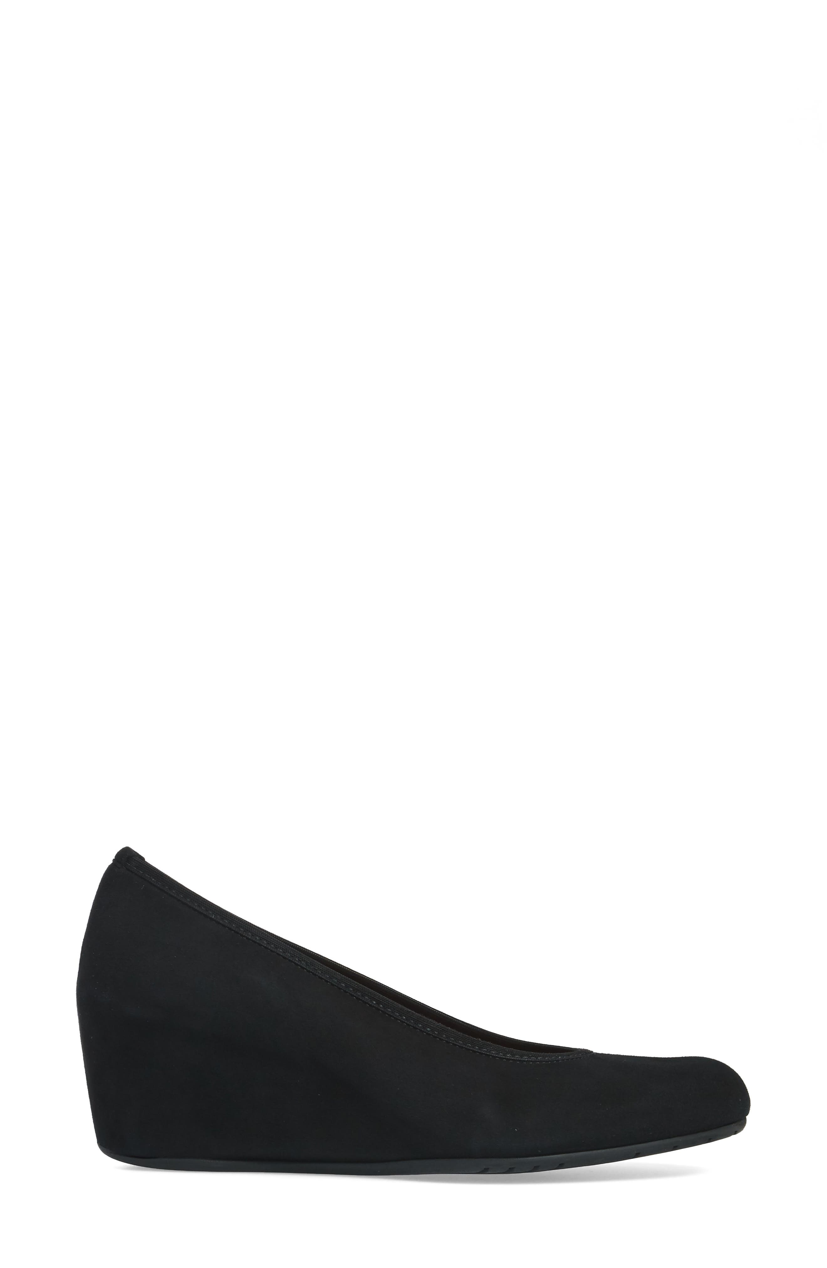 Malina Wedge,                             Alternate thumbnail 3, color,                             Black Suede