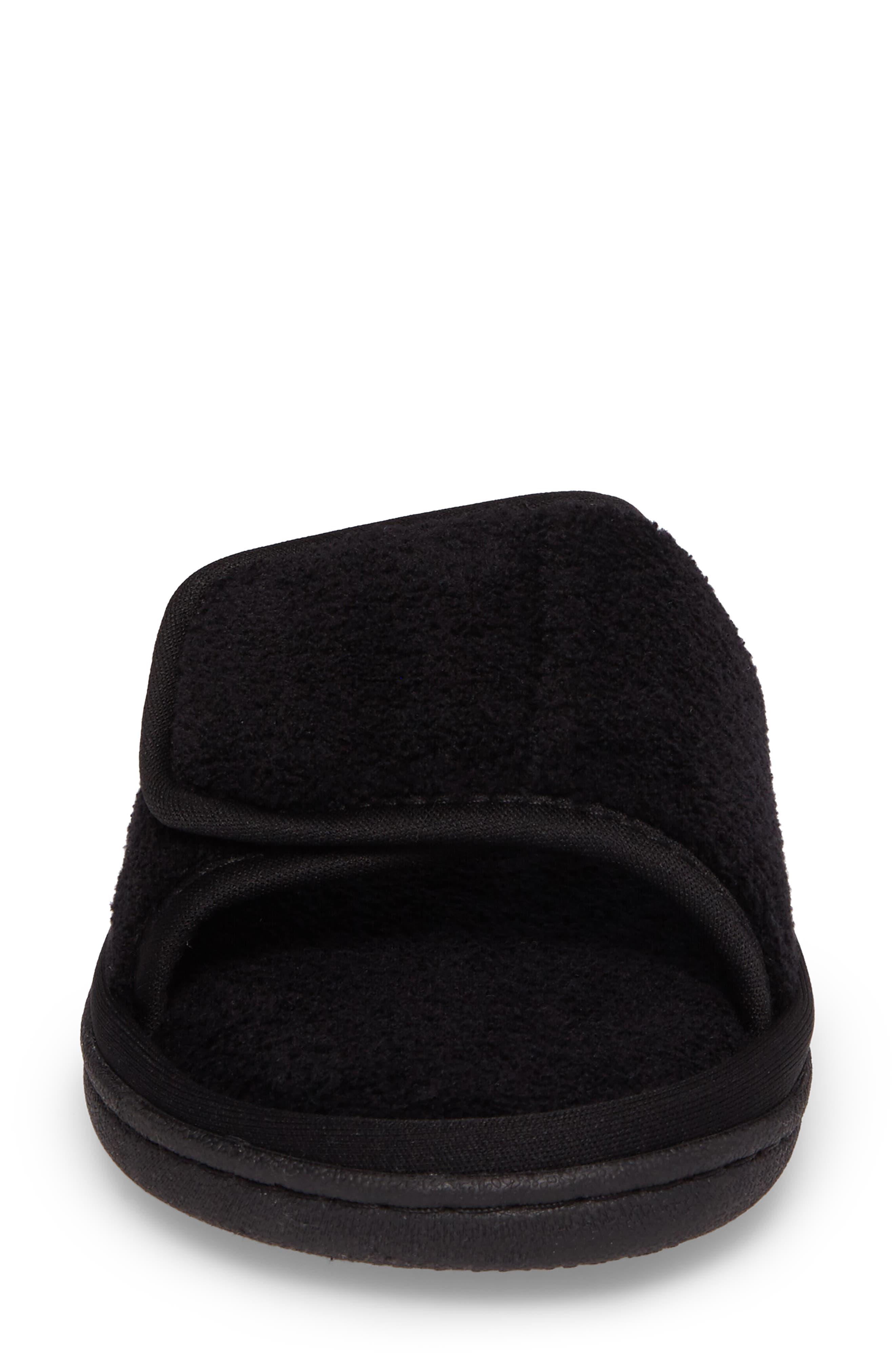 Geana Slipper,                             Alternate thumbnail 4, color,                             Black Fabric