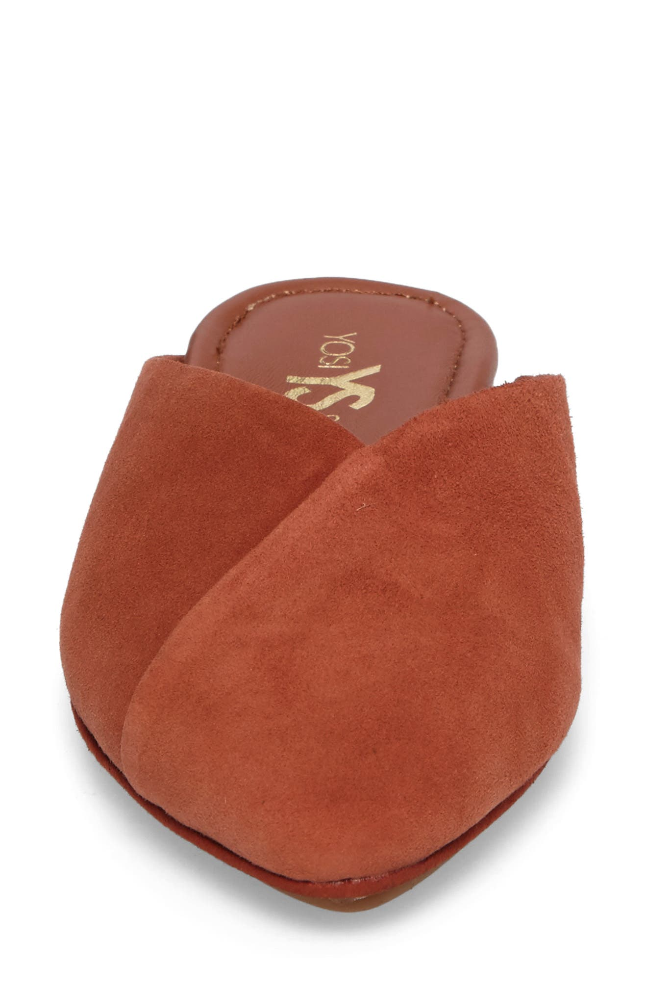Valentina Slide Mule,                             Alternate thumbnail 4, color,                             Adobe Suede