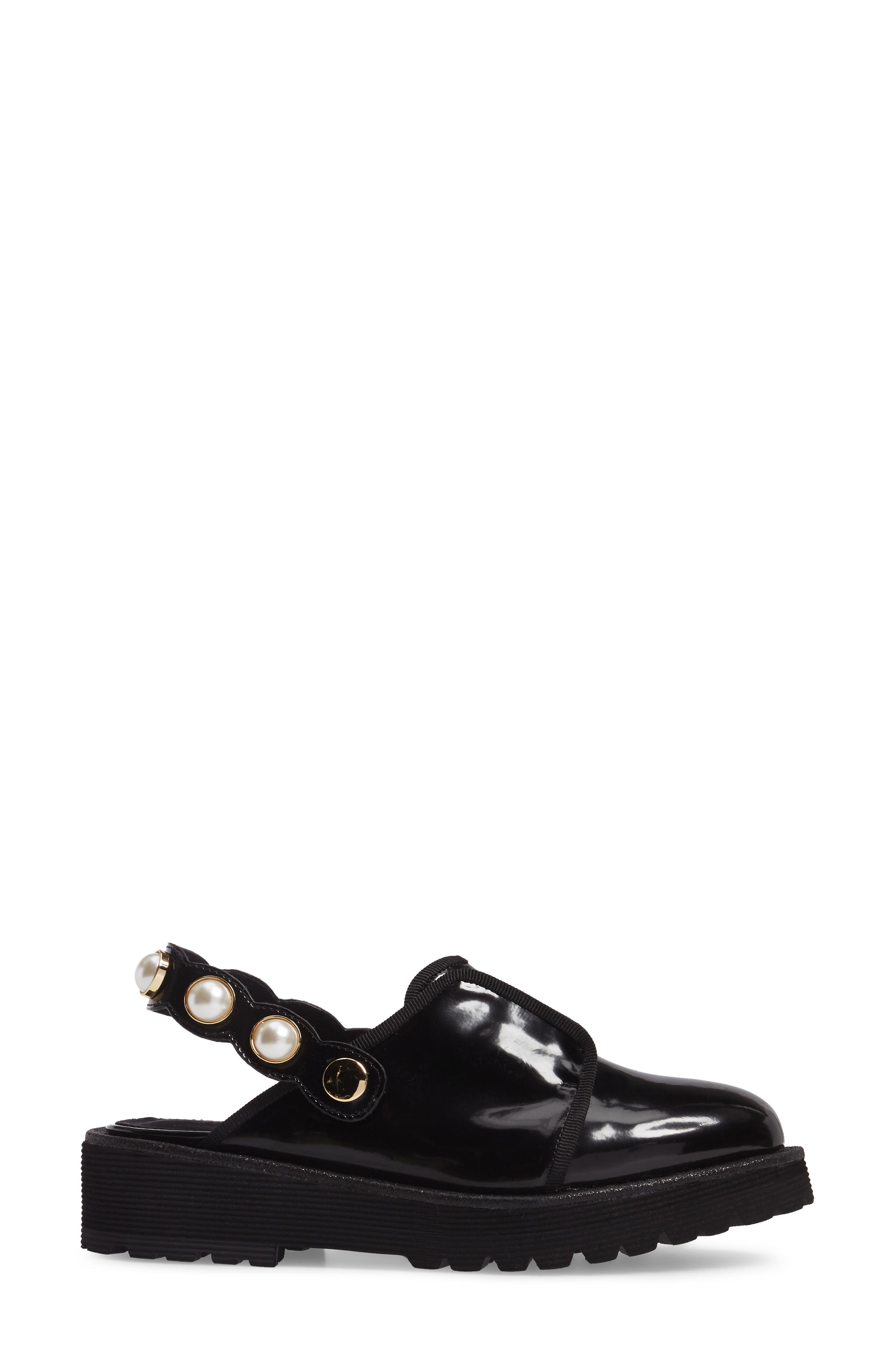 Embellished Slingback Oxford,                             Alternate thumbnail 3, color,                             Black