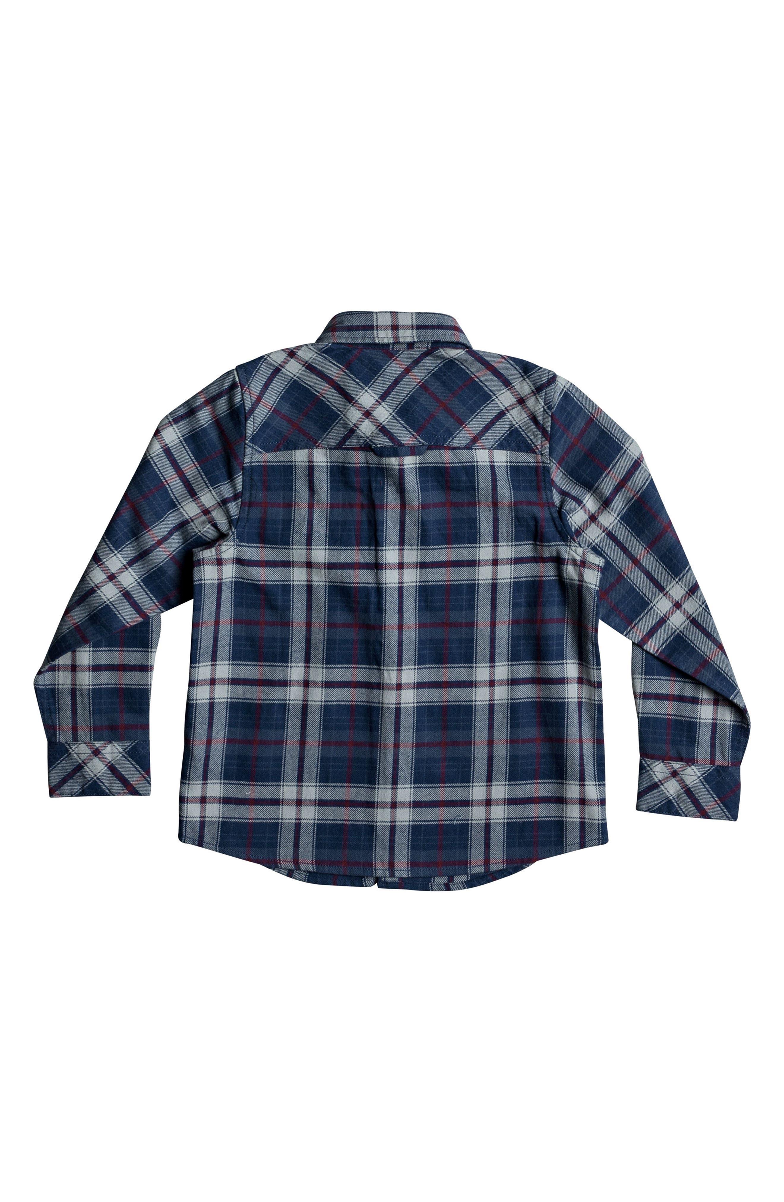 Alternate Image 2  - Quiksilver Fitzspeere Plaid Flannel Shirt (Toddler Boys & Little Boys)