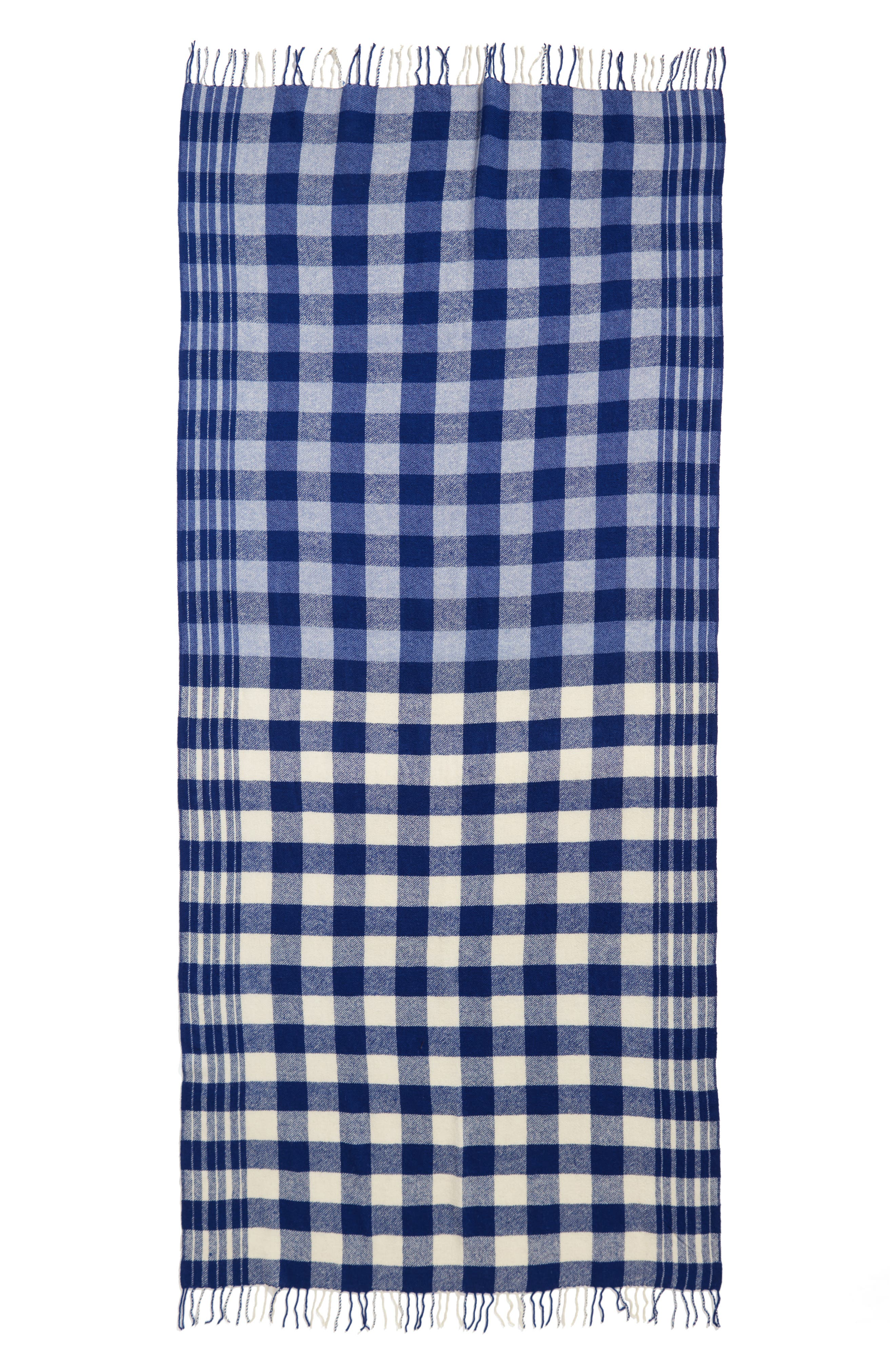 Alternate Image 2  - Standard Form Checked Wool & Cashmere Scarf