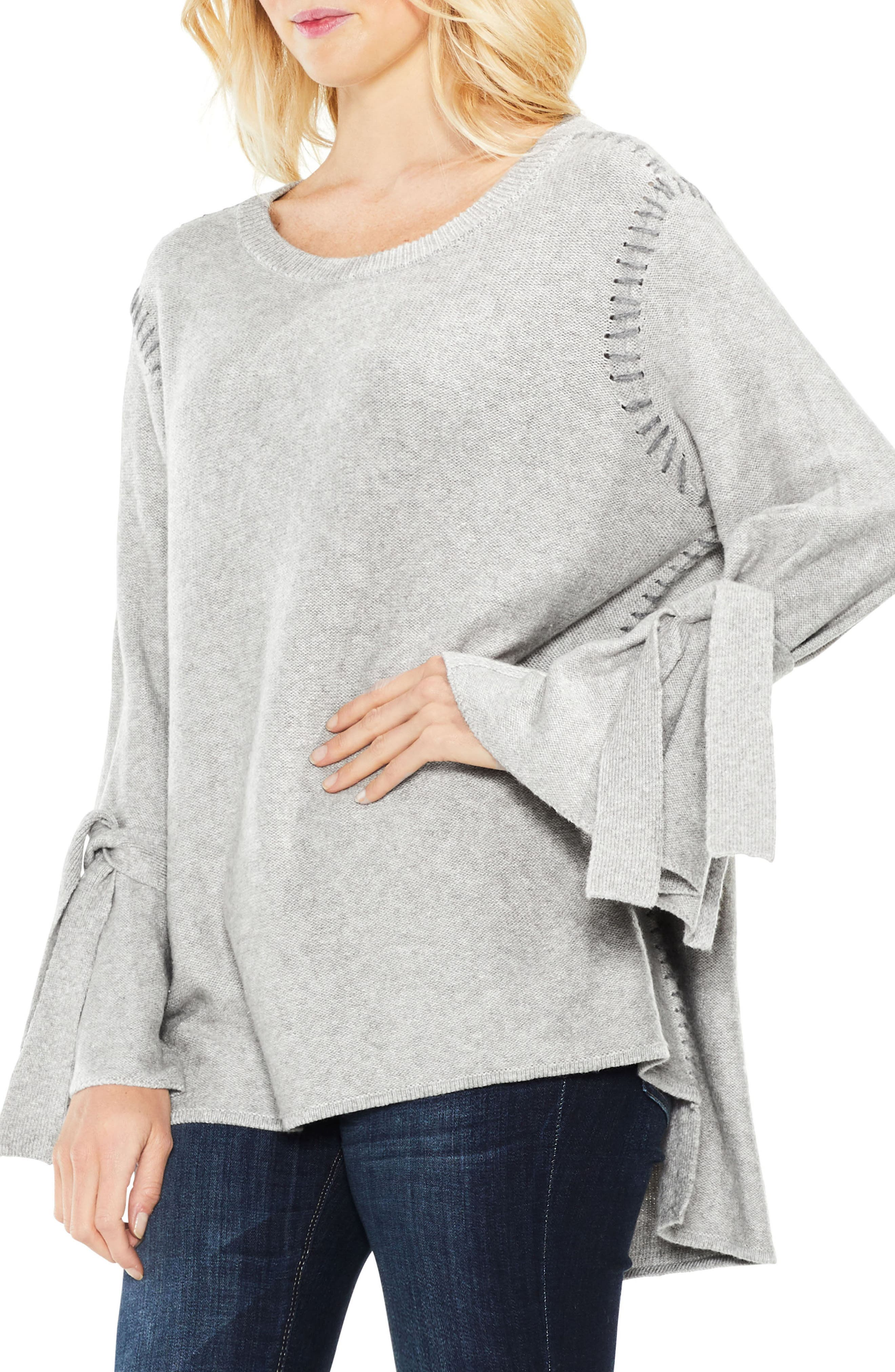 Alternate Image 1 Selected - Two by Vince Camuto Tie Sleeve Sweater