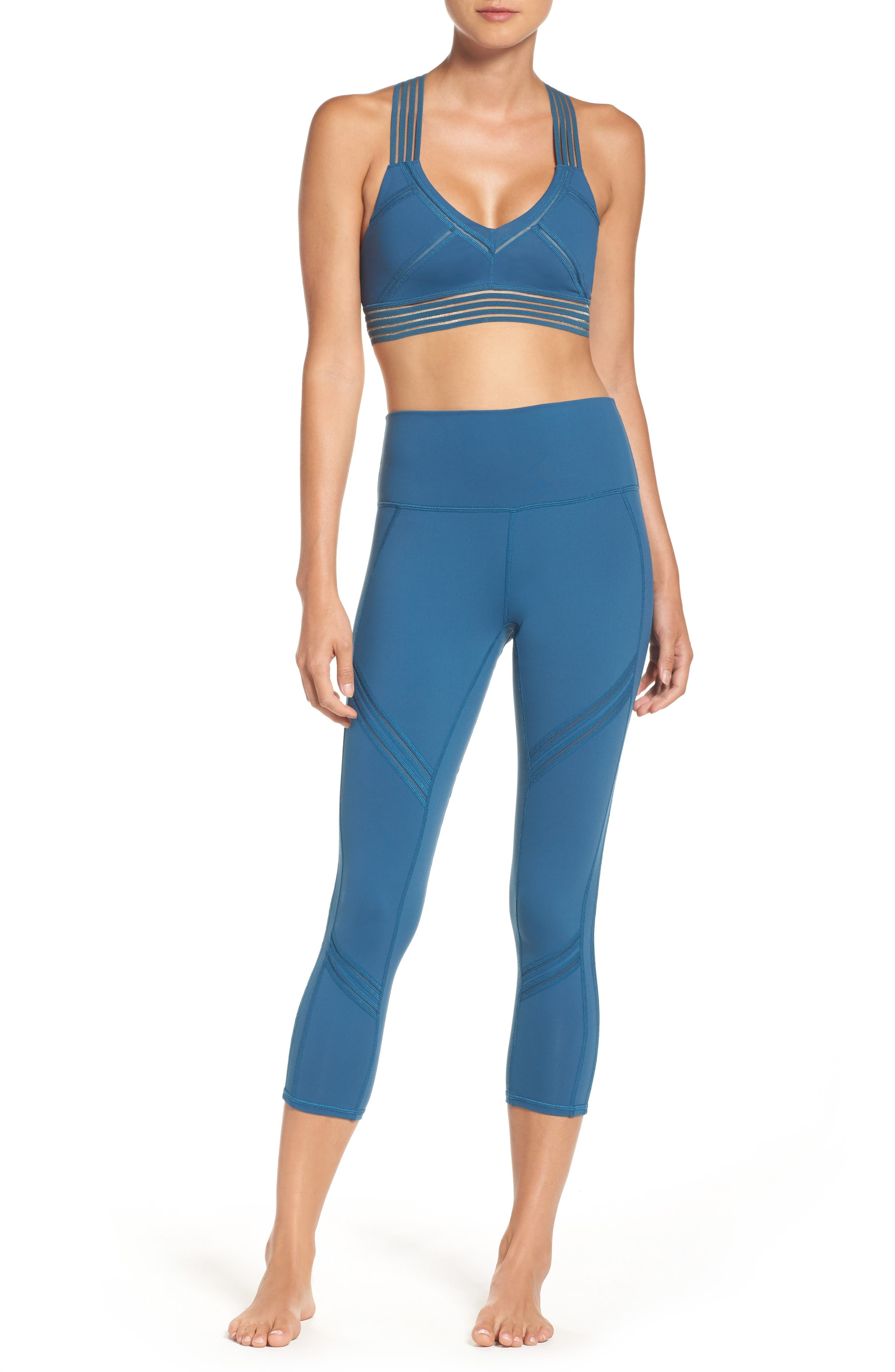 Infinite Sports Bra,                             Alternate thumbnail 7, color,                             Legion Blue