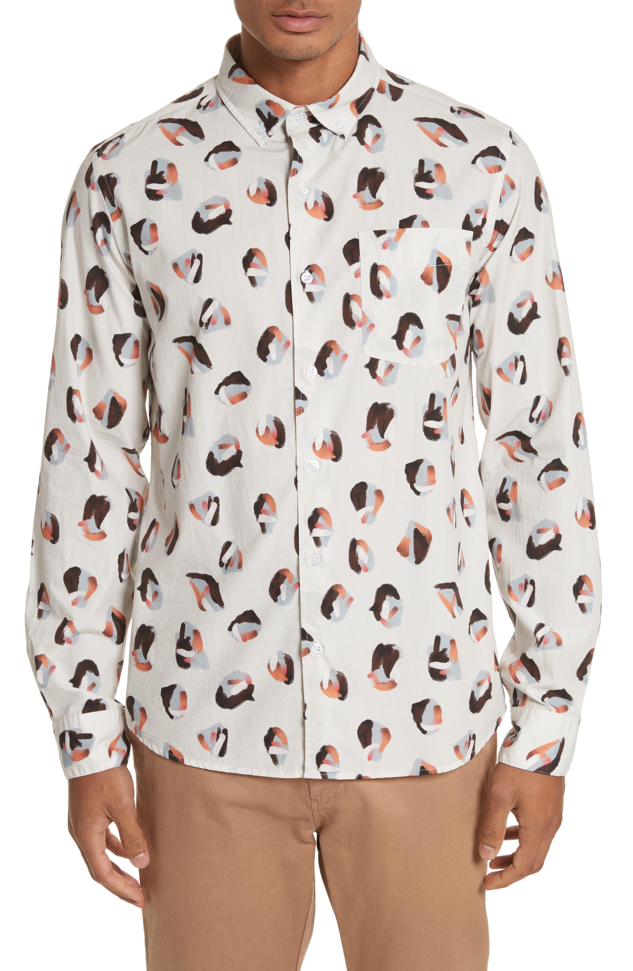 Main Image - Saturdays NYC Crosby Spots Woven Shirt
