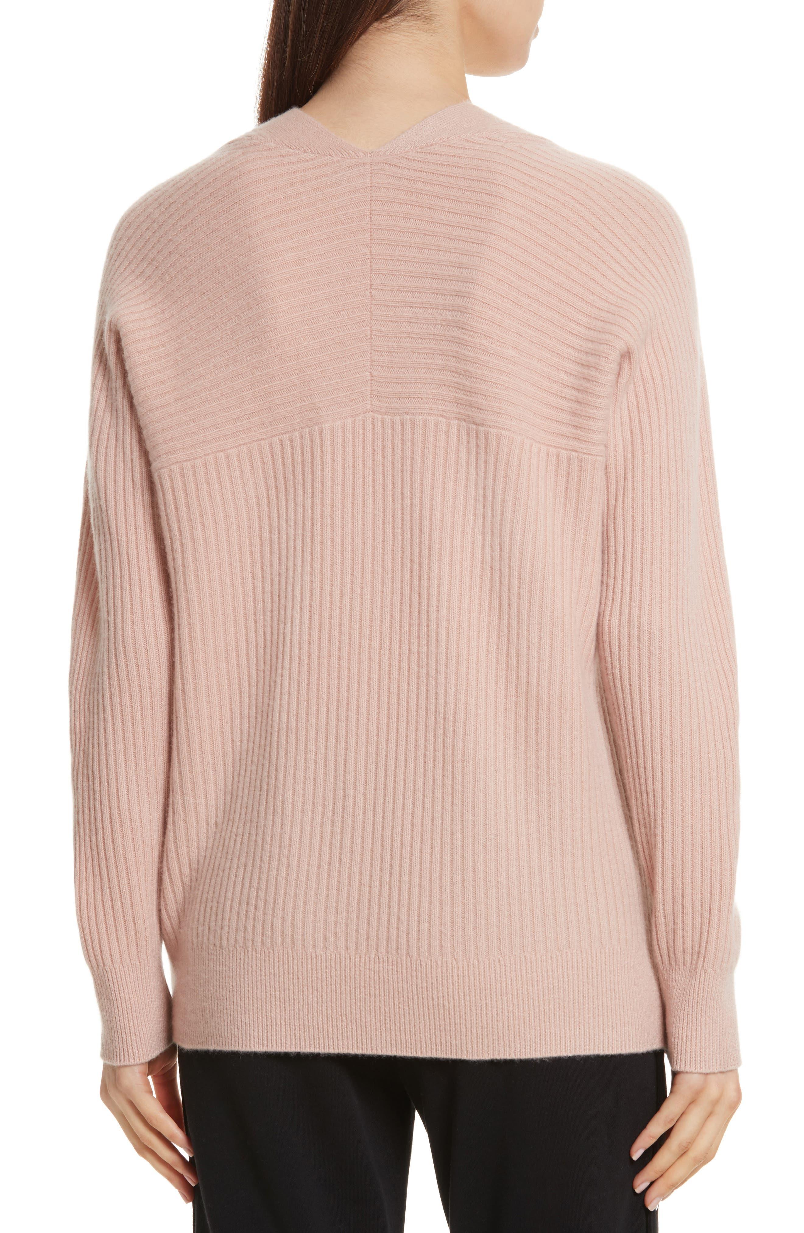 Wool Blend Raglan V-Neck Sweater,                             Alternate thumbnail 2, color,                             Quartz