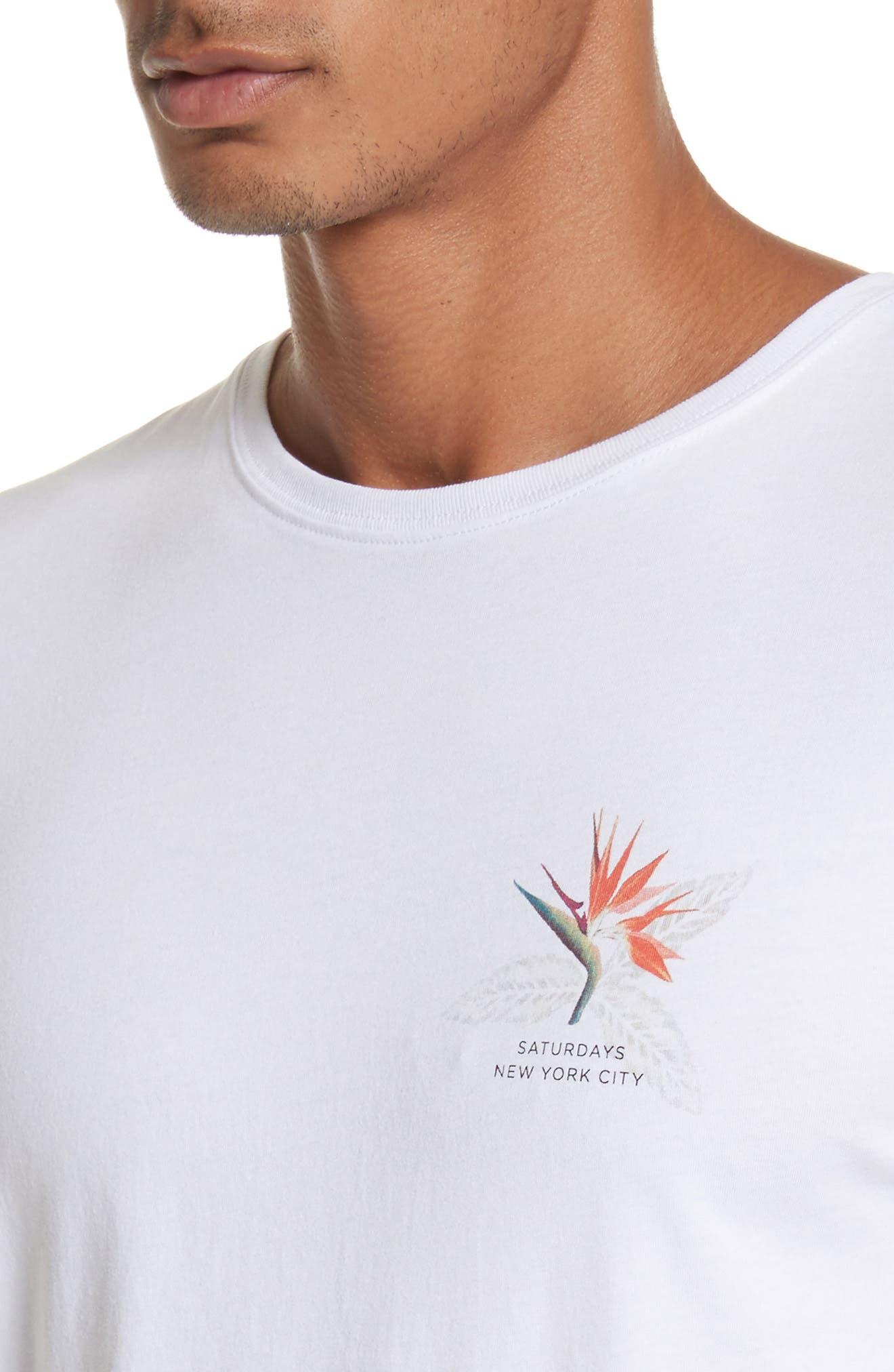 Paradise Graphic T-Shirt,                             Alternate thumbnail 4, color,                             White