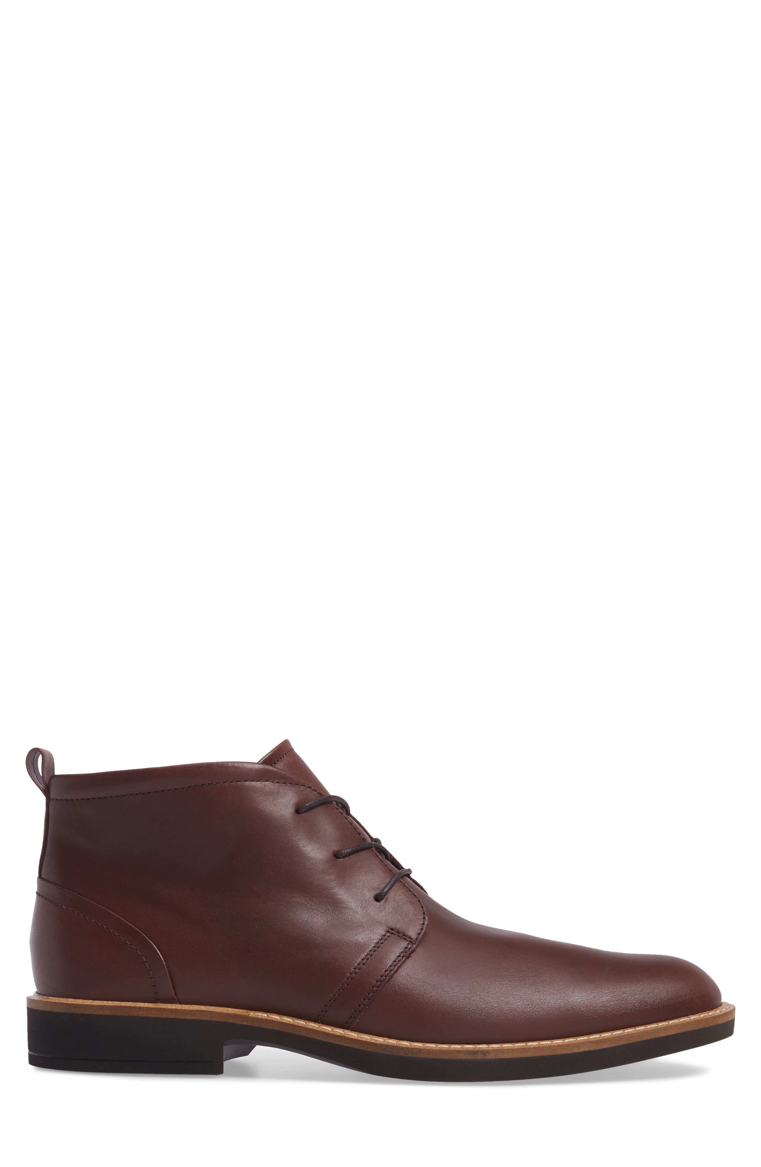 Biarritz Chukka Boot,                             Alternate thumbnail 3, color,                             Rust Leather