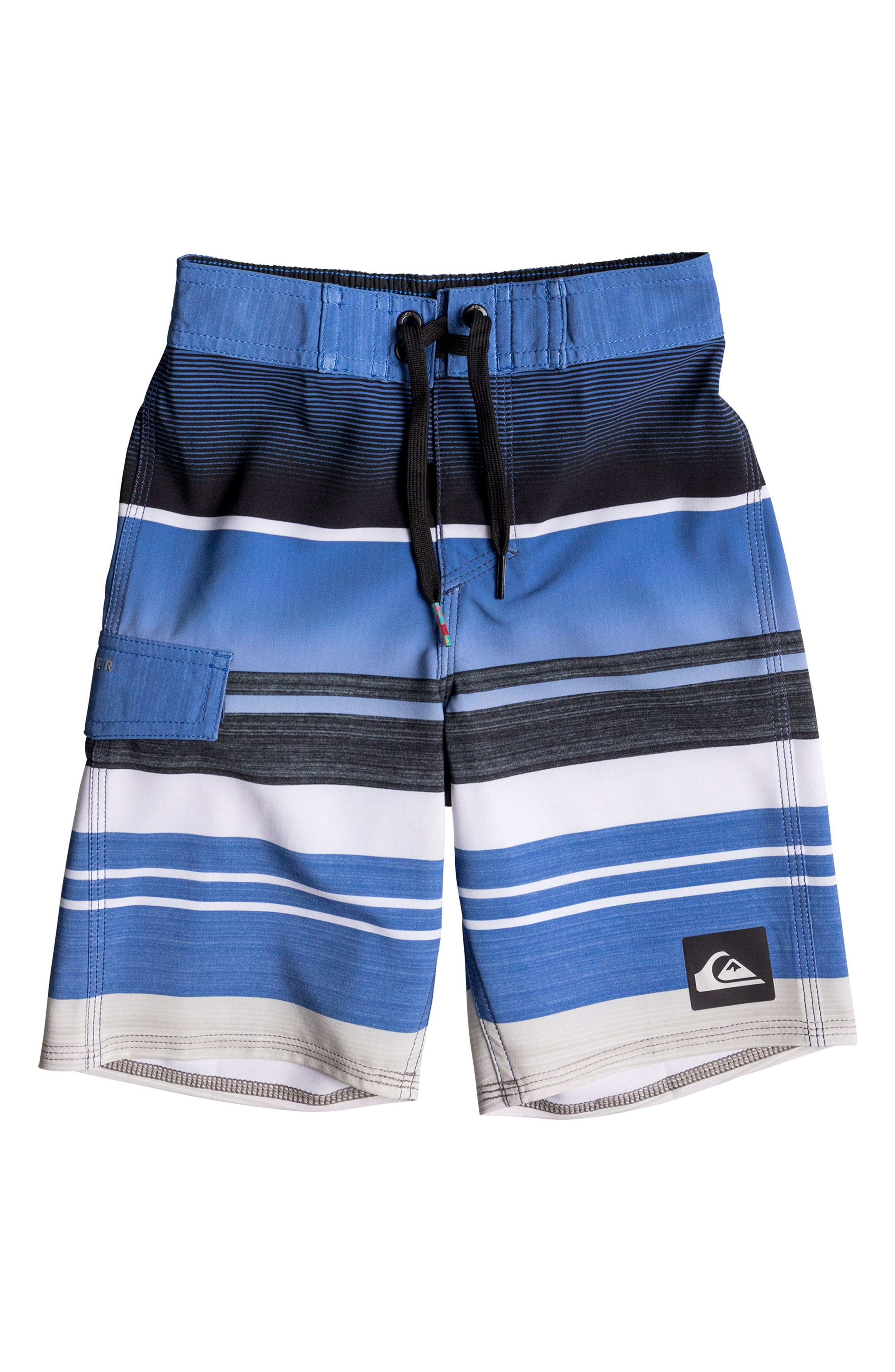 Everyday Stripe Vee Board Shorts,                         Main,                         color, Pool Blue