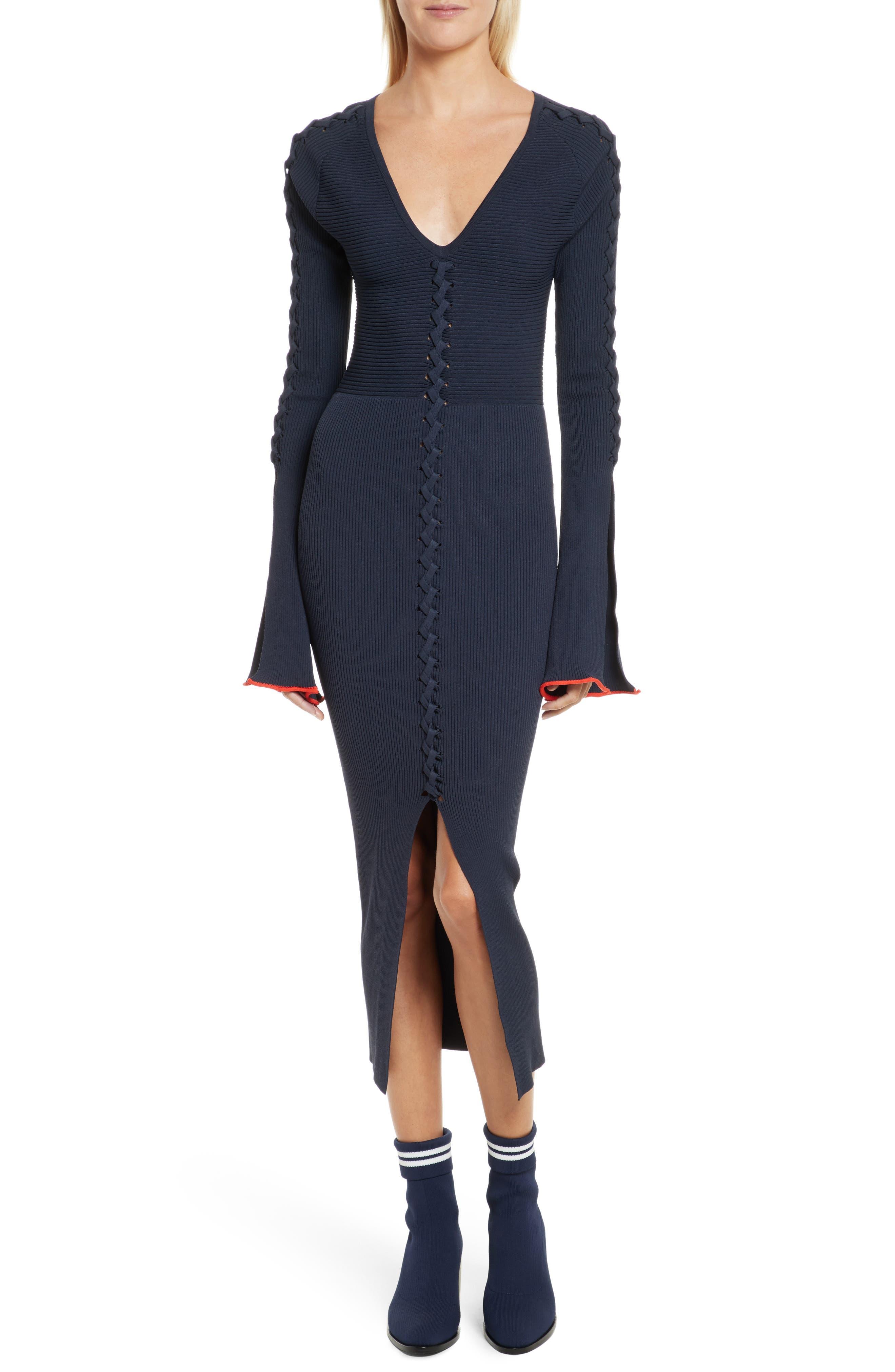 Criss Cross Dress,                         Main,                         color, Collegiate Navy