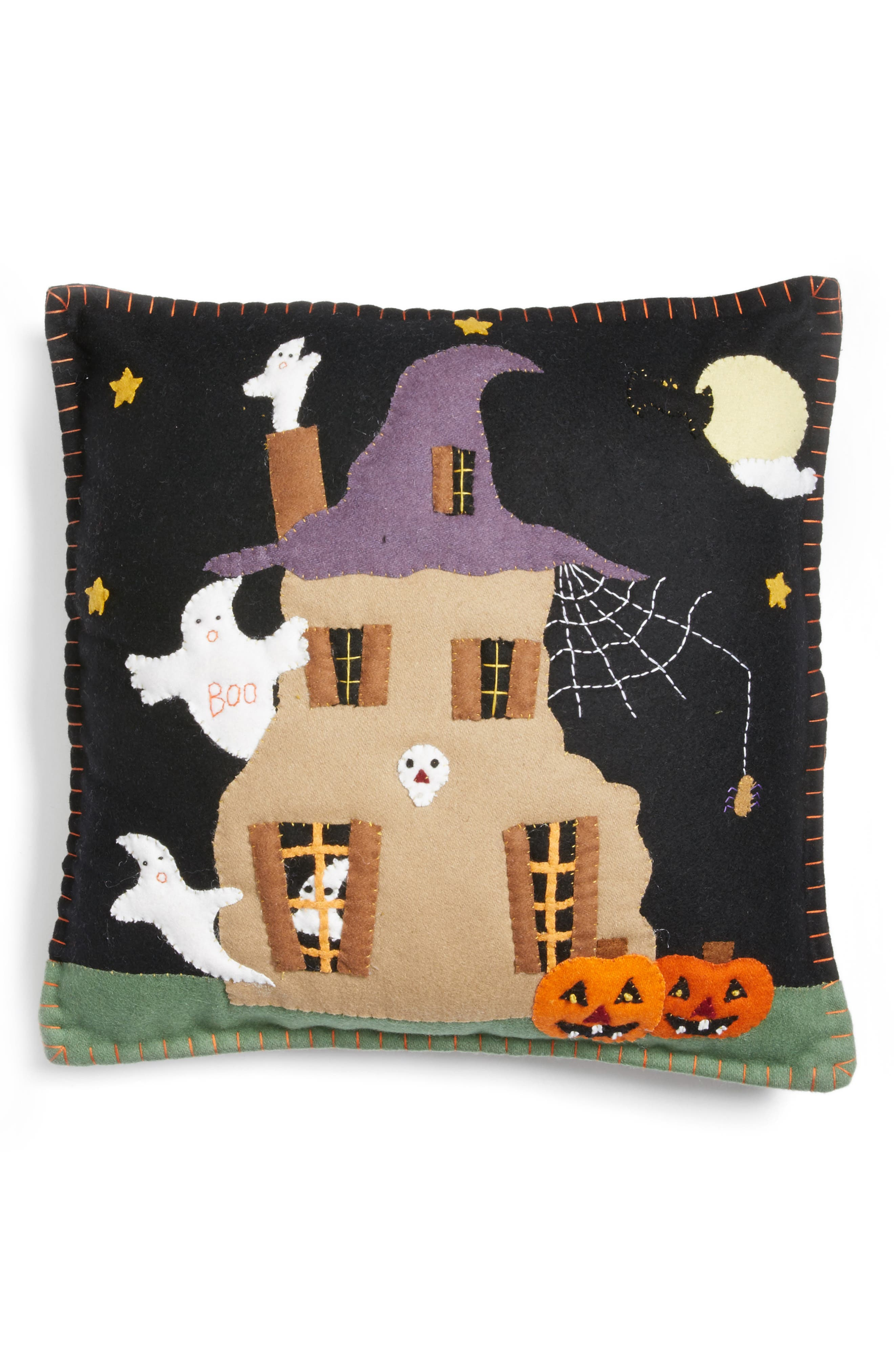 New World Arts Haunted House Pillow